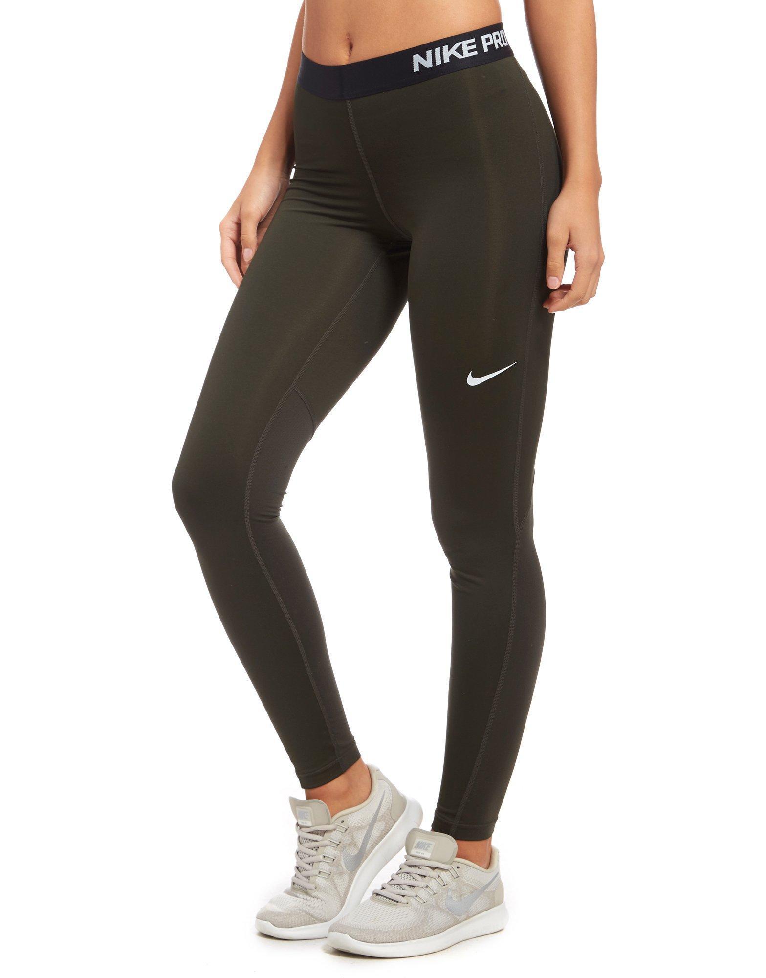 60c9b13f9c027 Lyst - Nike Pro Tight Leggings in Green