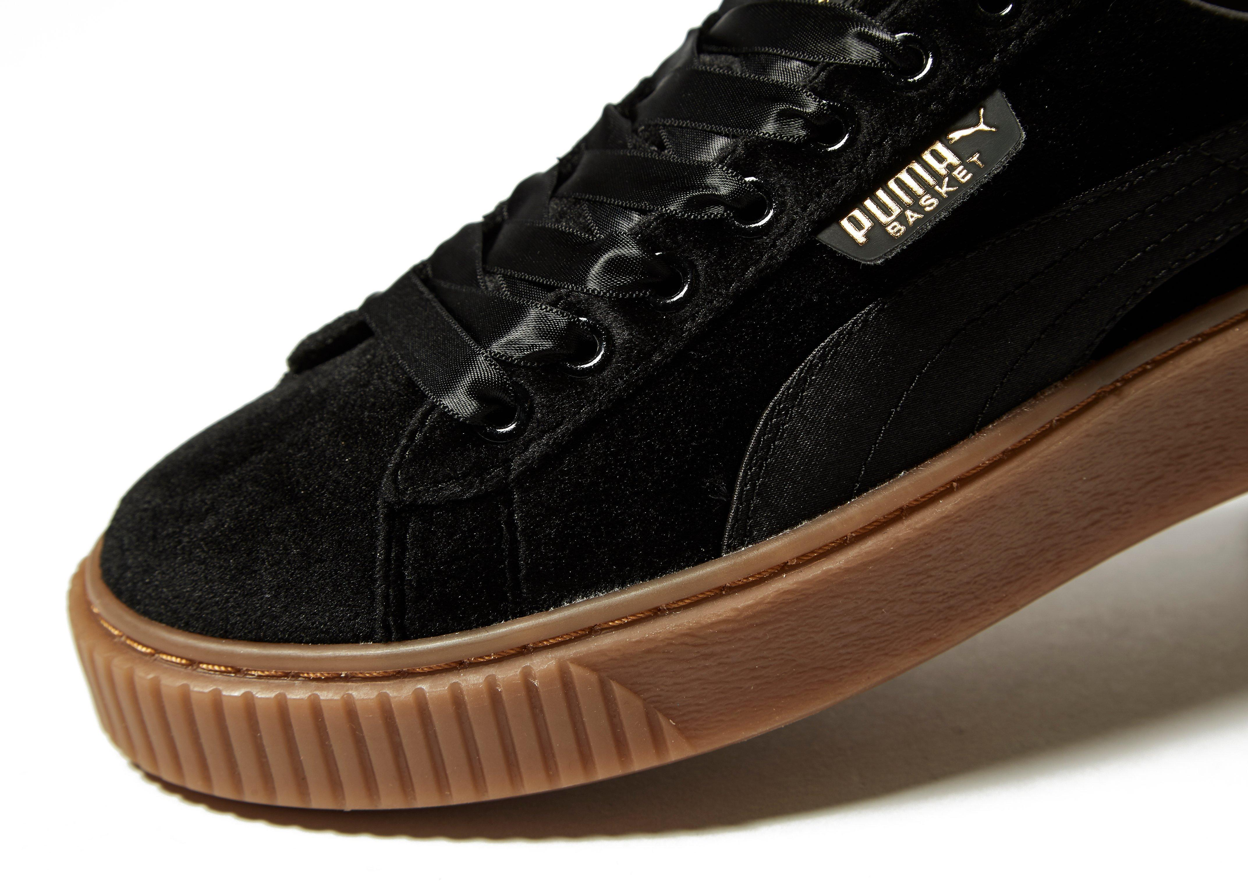 puma sneaker basket platform velvet