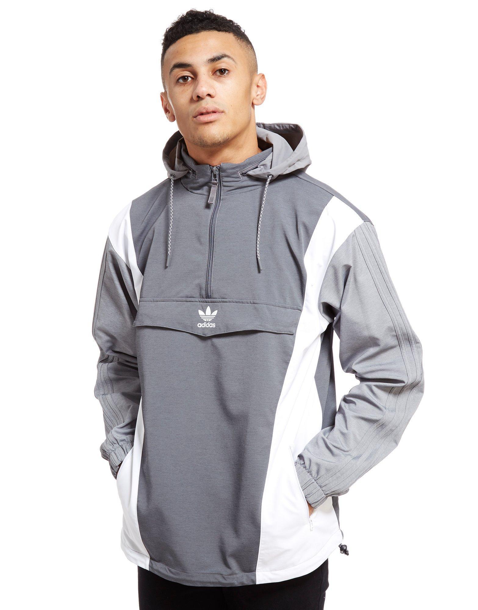 Lyst - adidas Originals Nova Half Zip Jacket in Gray for Men 96230ba6873