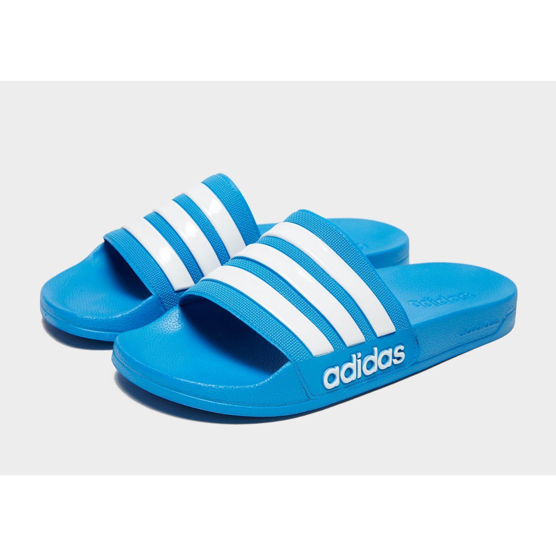 44576195211443 Adidas Originals - Blue Adilette Cloudfoam Slides for Men - Lyst. View  fullscreen