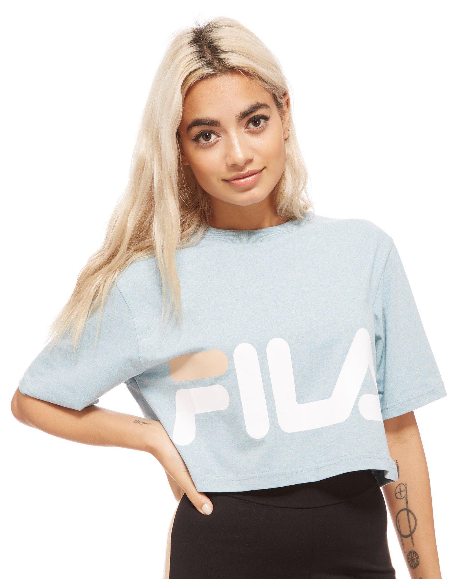 f150d3c517 Fila Chanda Crop Top in Blue - Lyst