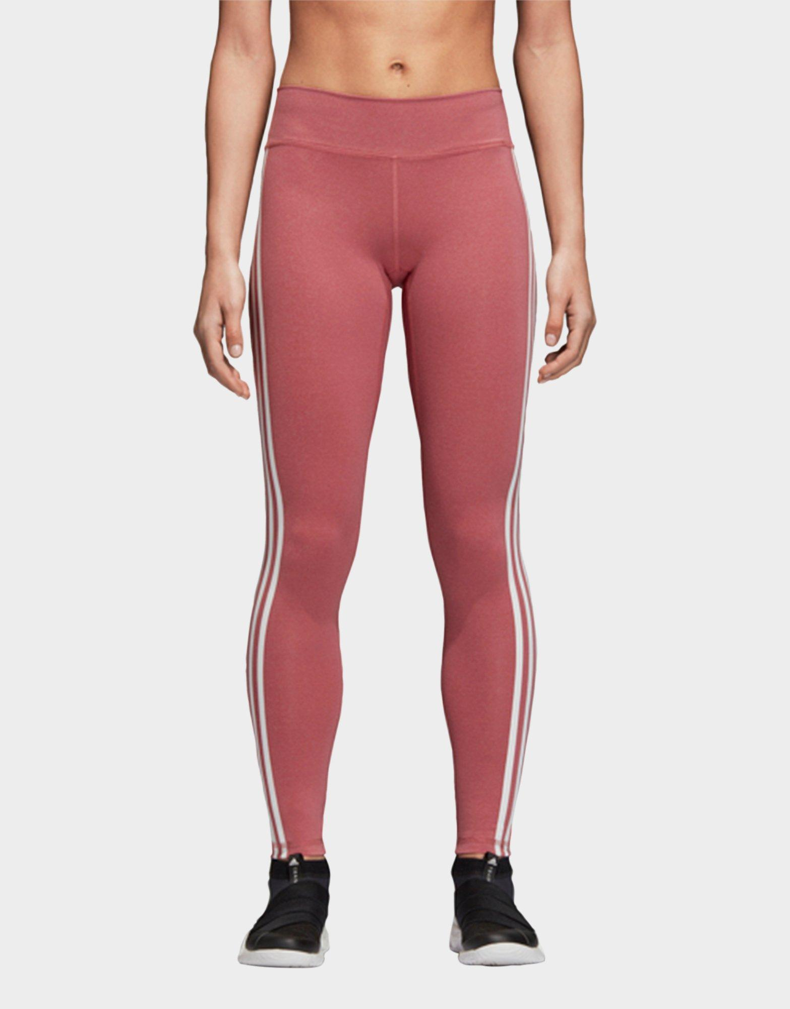 Lyst - Adidas Believe This 3-stripes Tights in Red 1d9ee032d40