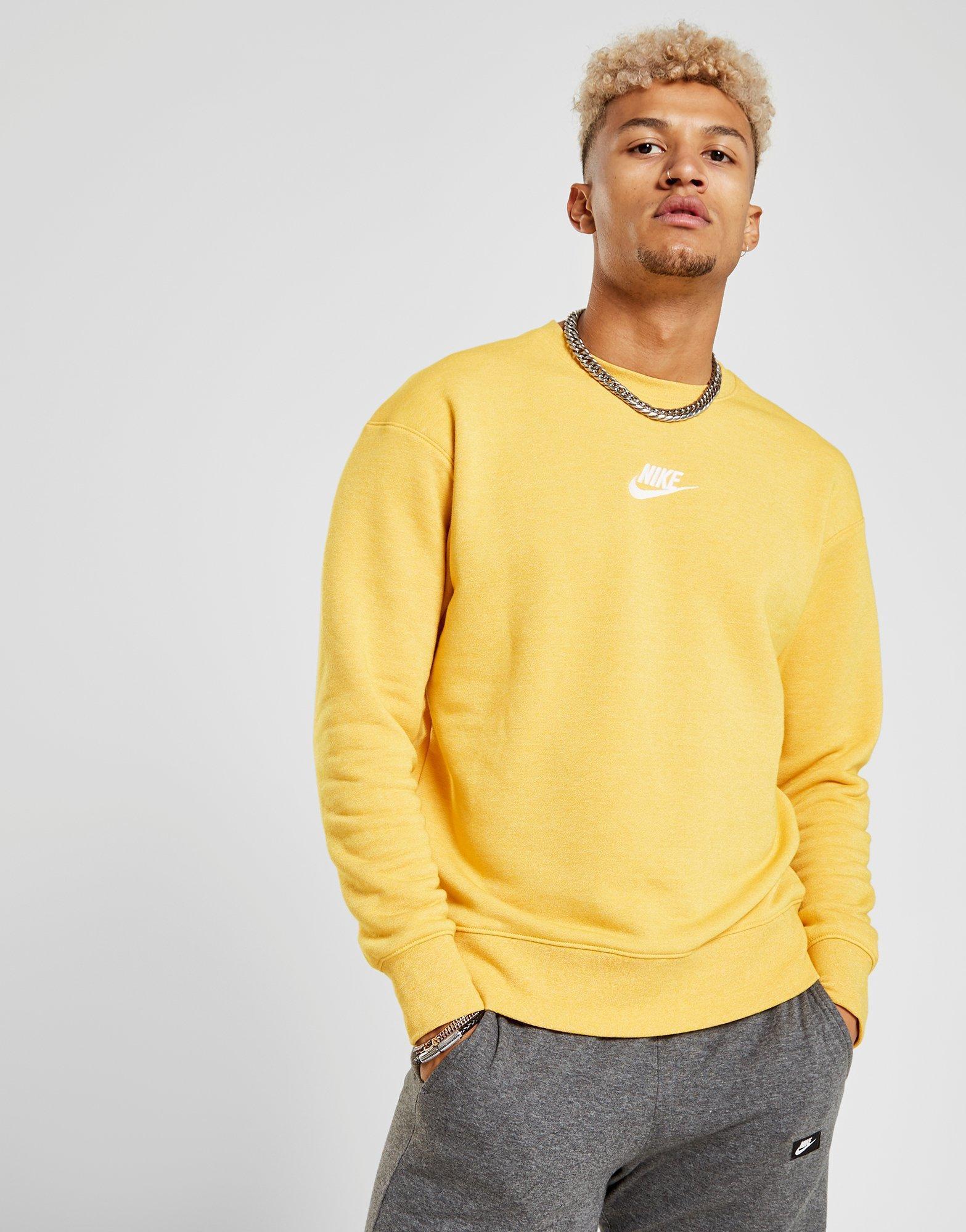 6c0a142bd93c Nike Heritage Crew Sweatshirt in Yellow for Men - Lyst
