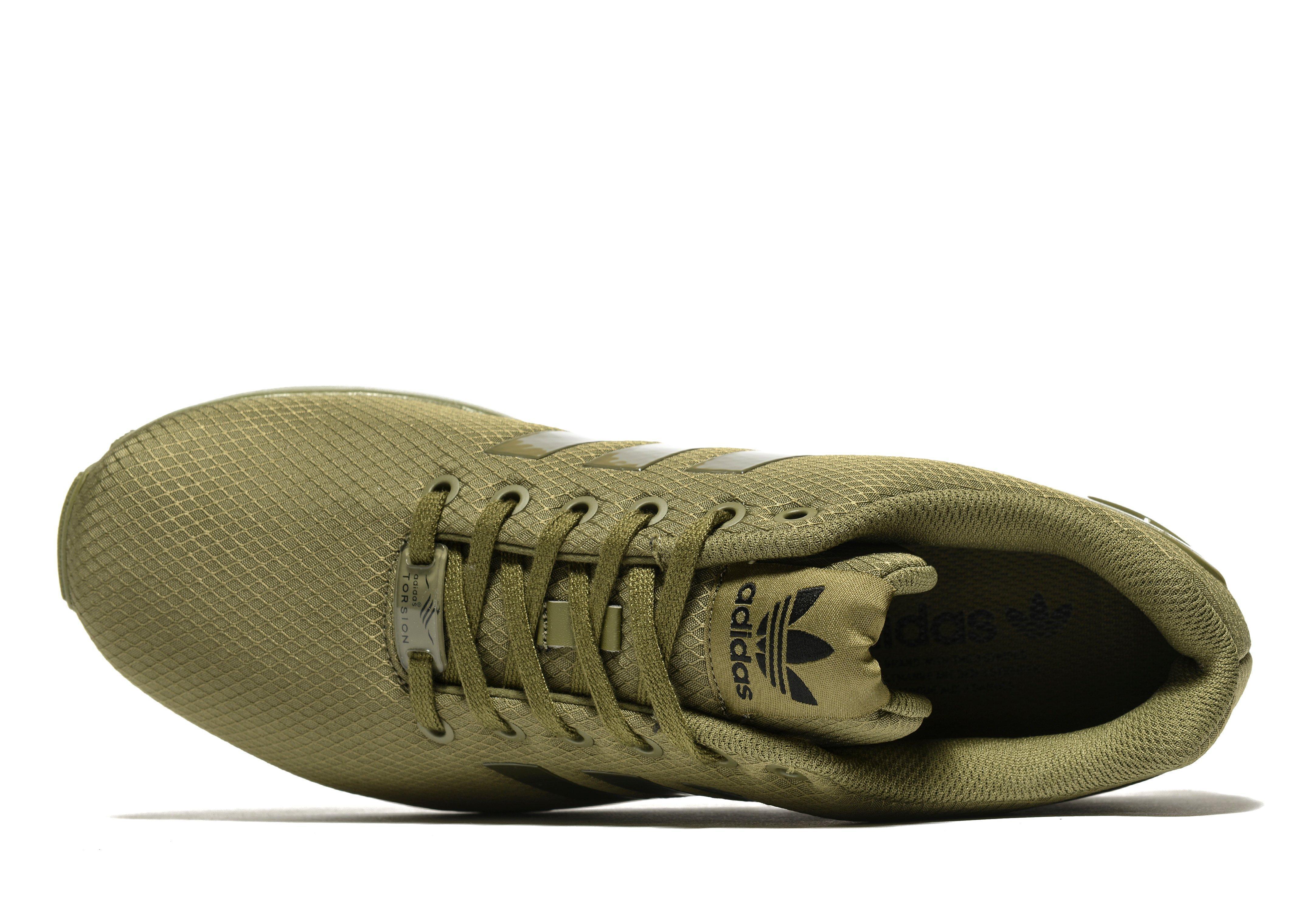 Lyst adidas originali zx flusso ripstop in verde per gli uomini.