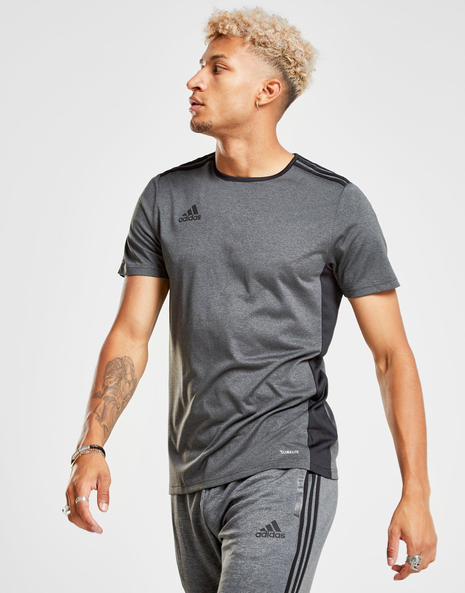 89cb2c68735 Adidas - Gray Entrada 18 T-shirt for Men - Lyst. View fullscreen