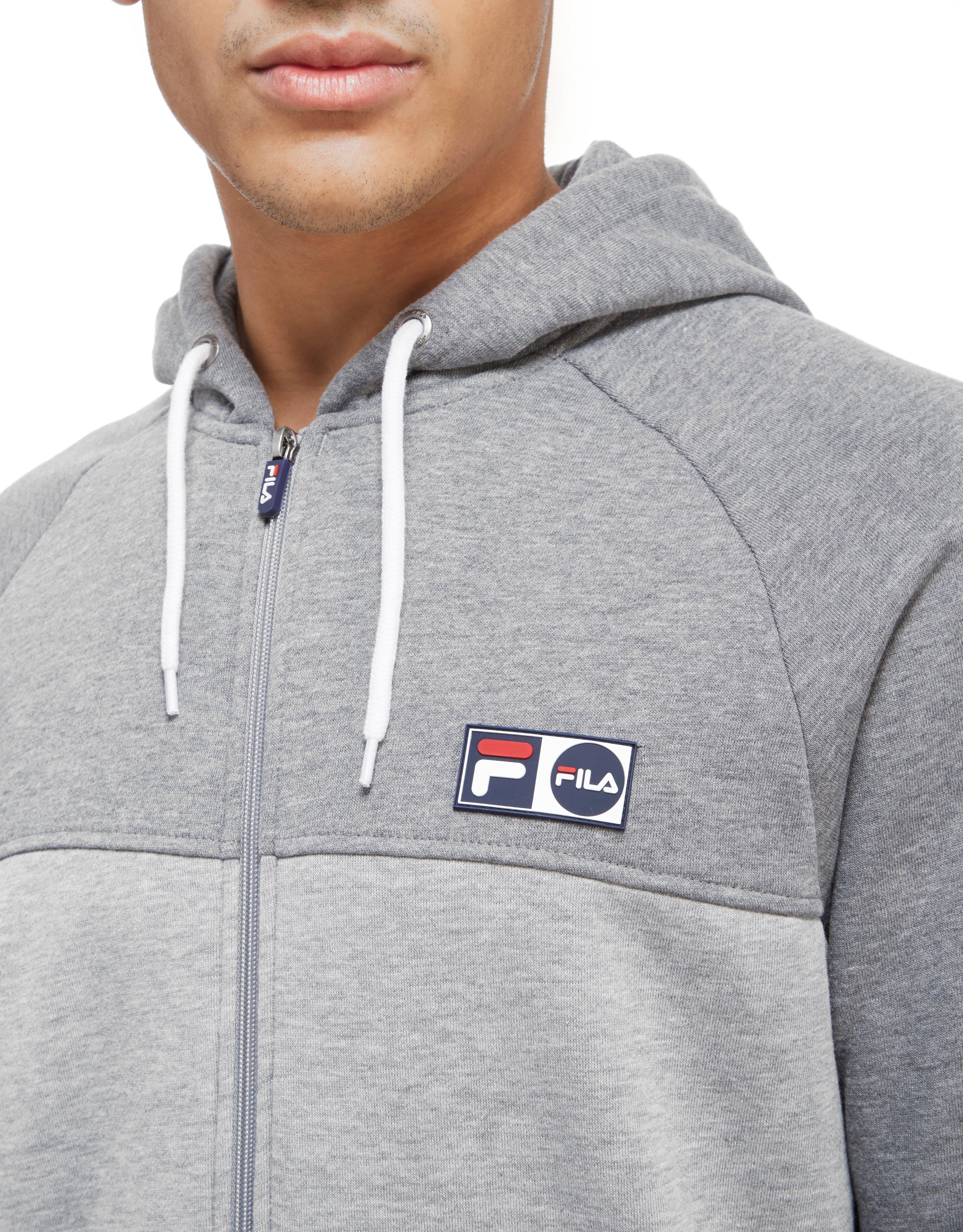 c6eee1871b9a Lyst - Fila Songini Fleece Full Zip Hoodie in Gray for Men