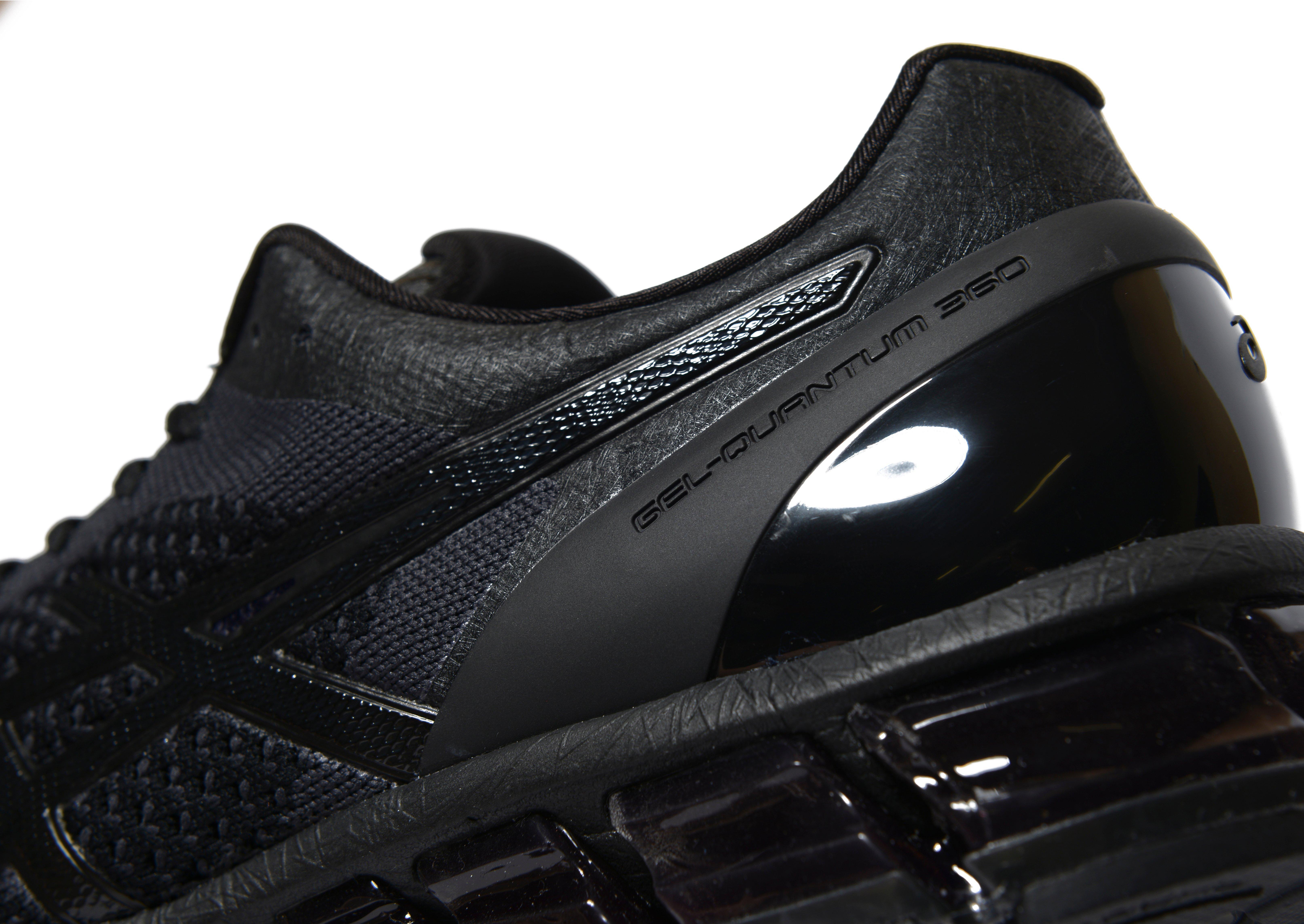 asics gel quantum 360 knit in black for men lyst. Black Bedroom Furniture Sets. Home Design Ideas