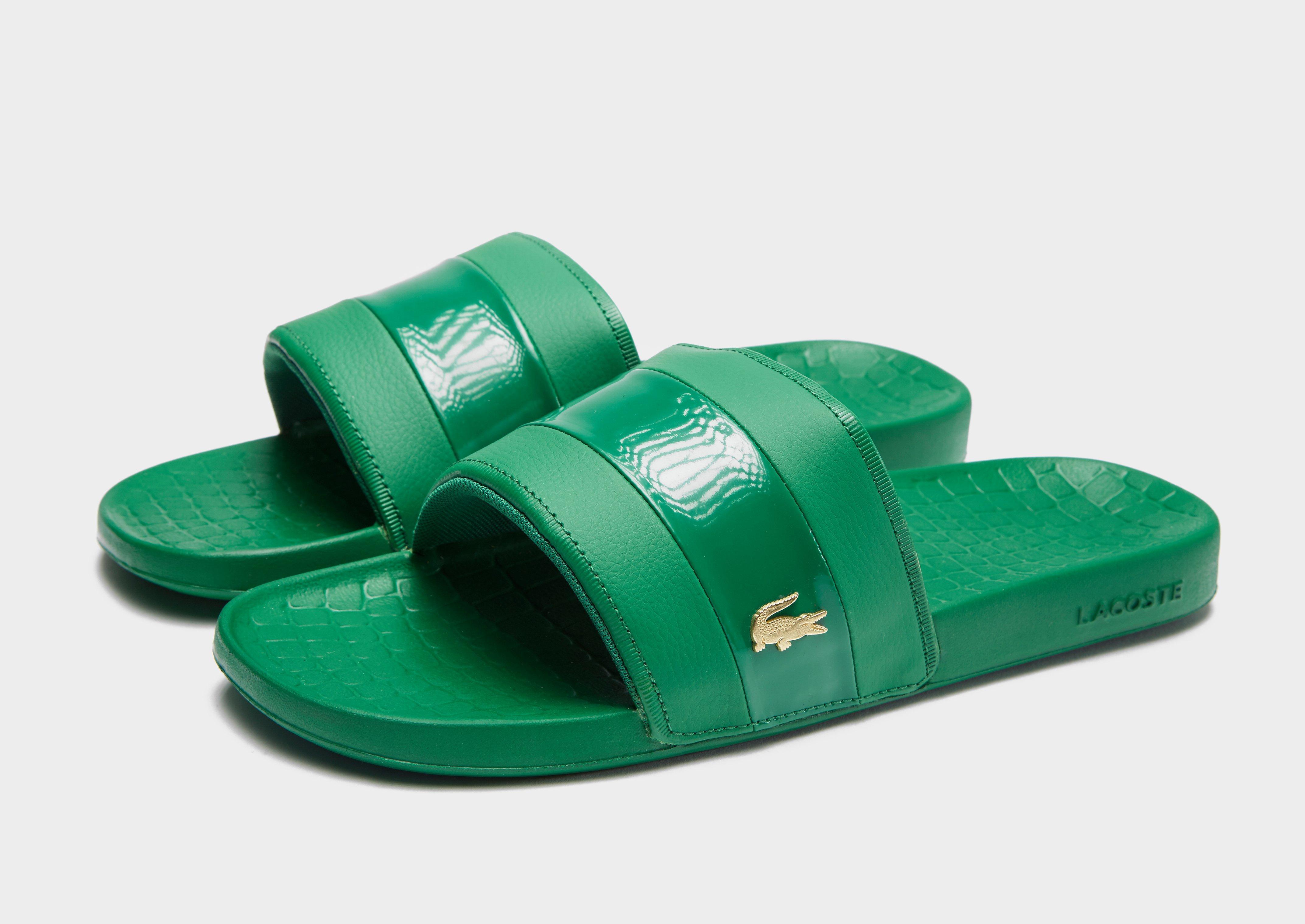 4e868e87daf4 Lyst - Lacoste Frasier Deluxe Slides in Green for Men