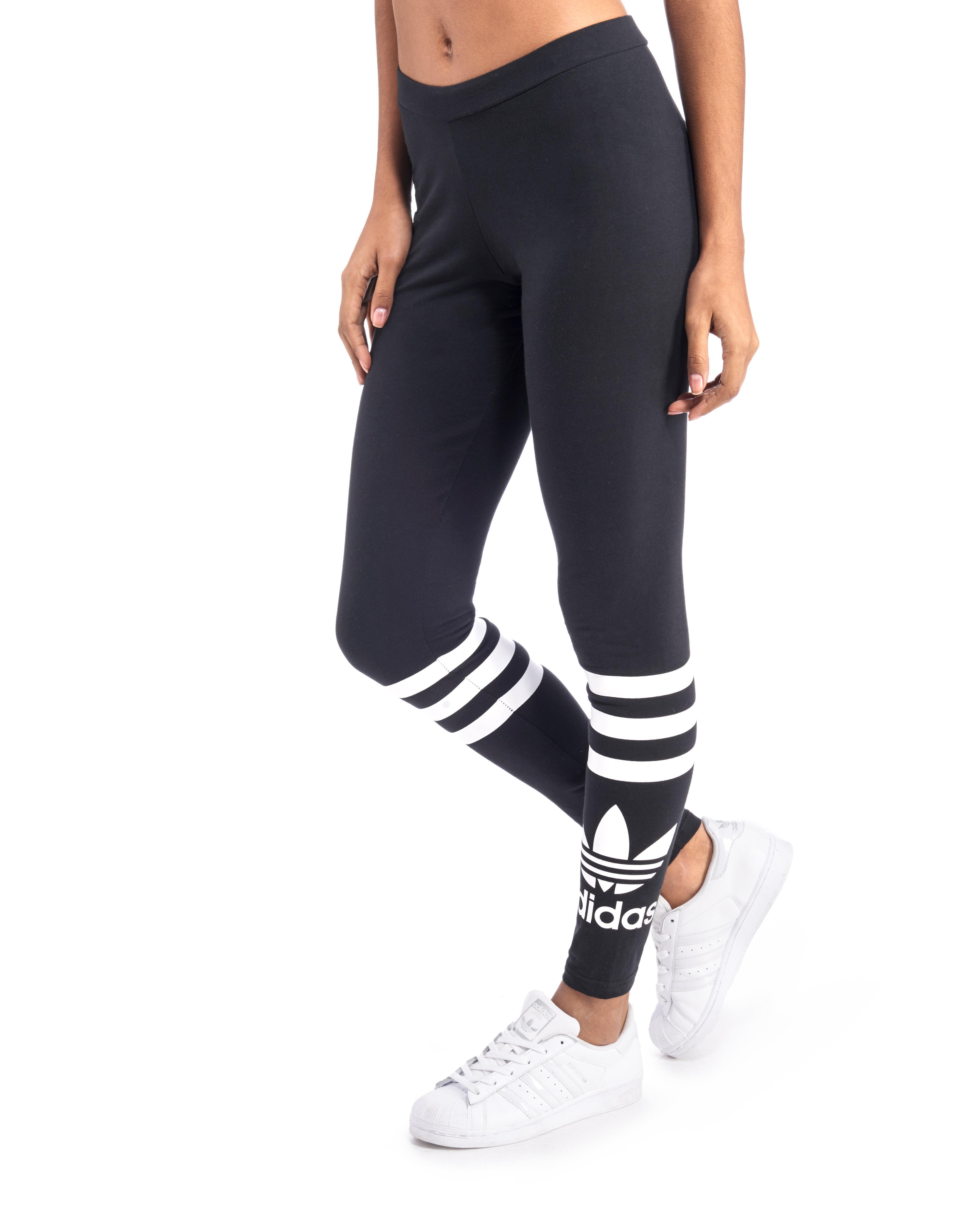 adidas originals street leggings in black lyst. Black Bedroom Furniture Sets. Home Design Ideas