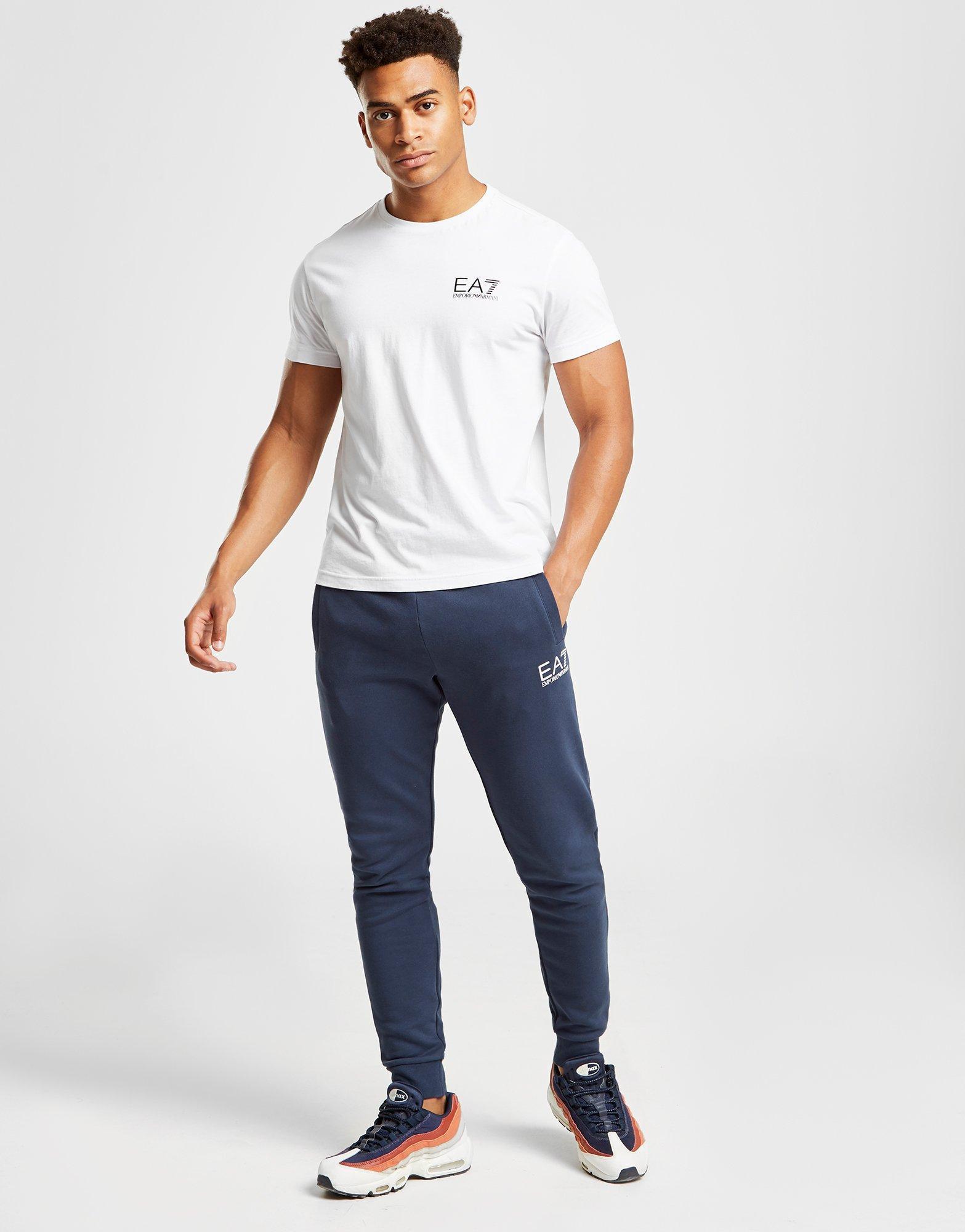 fe2d2d97 Lyst - Ea7 Core Fleece Track Pants in Blue for Men