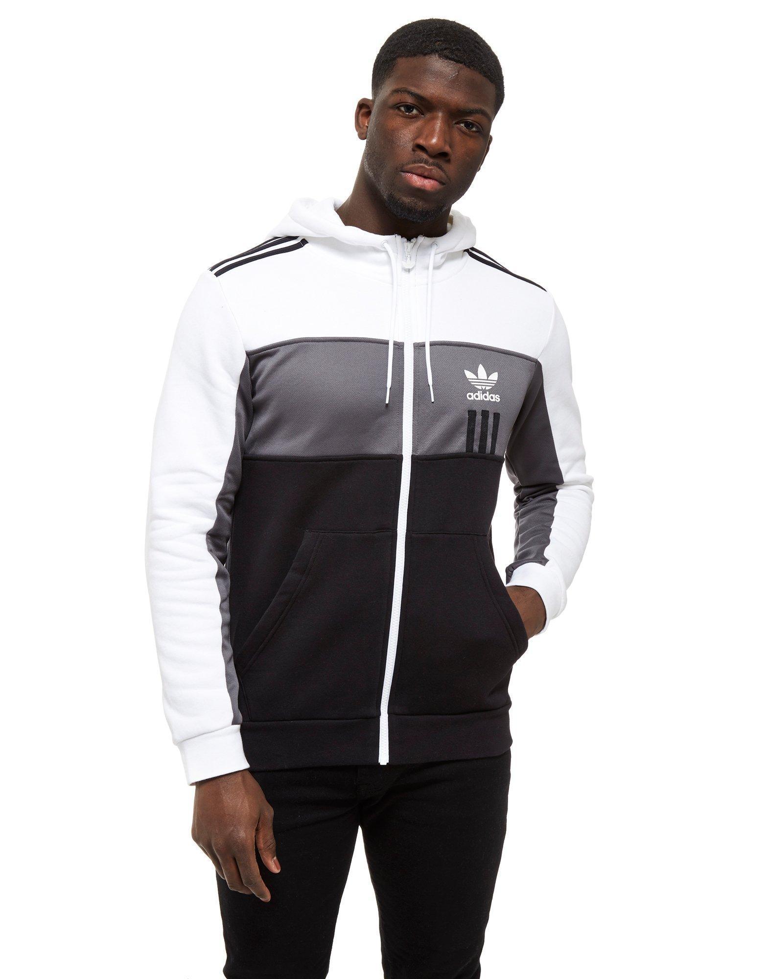 af9c6f2963d681 adidas Originals Id96 Full Zip Hoodie in Black for Men - Lyst