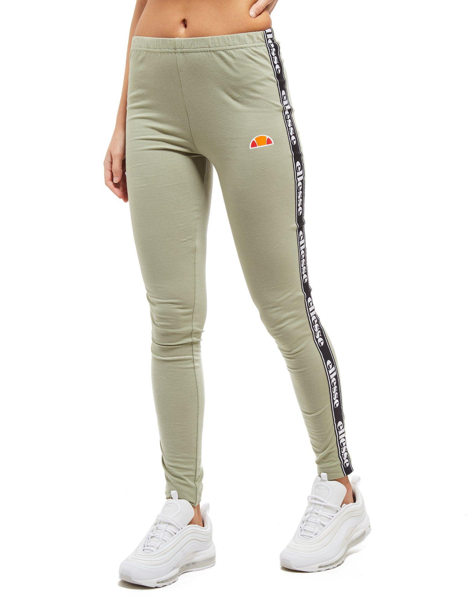 96da7f0bb2a2 Ellesse Tape Leggings in Green - Lyst