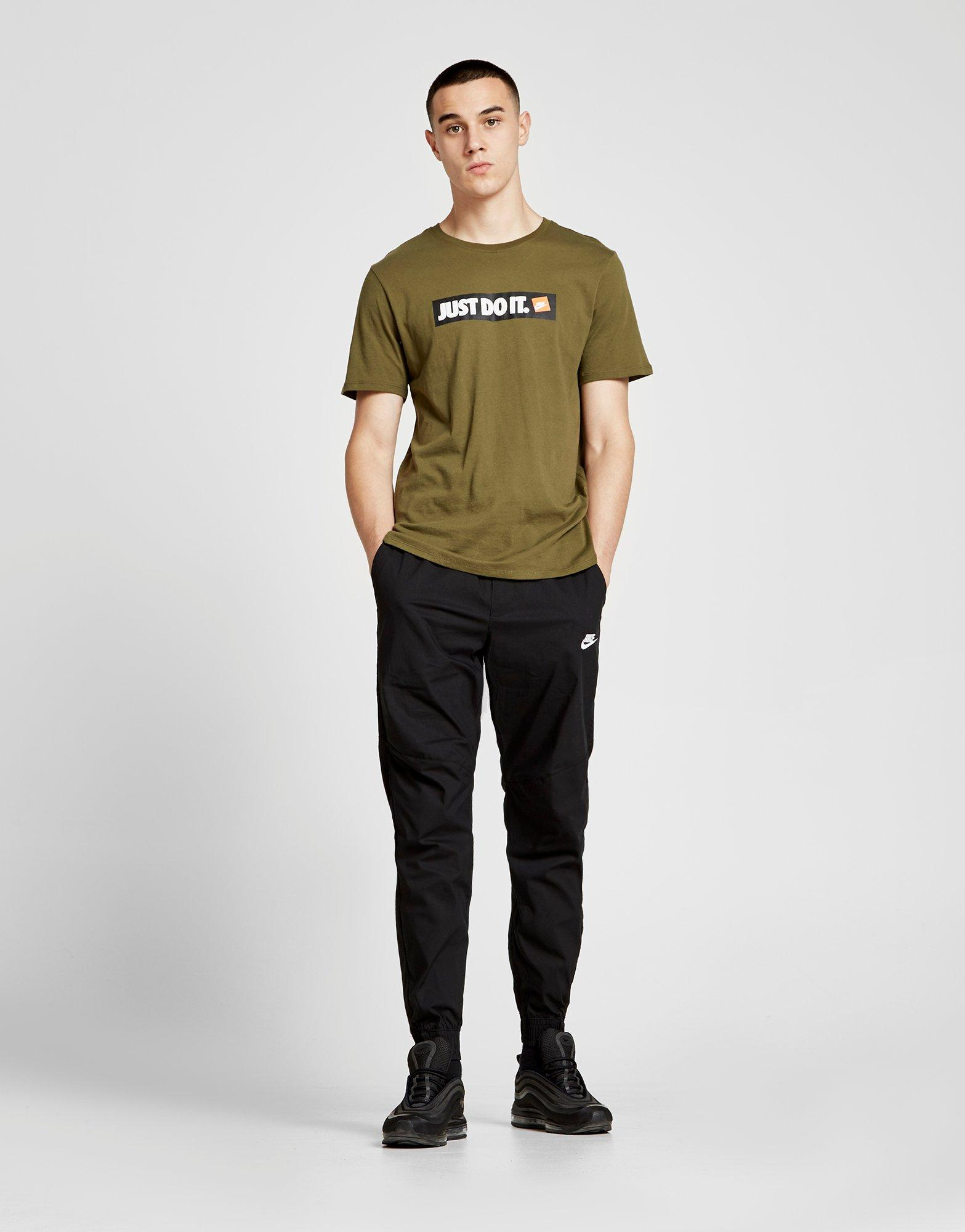 Lyst - Nike Twill Cuffed Track Pants in Black for Men 836d550a60ee