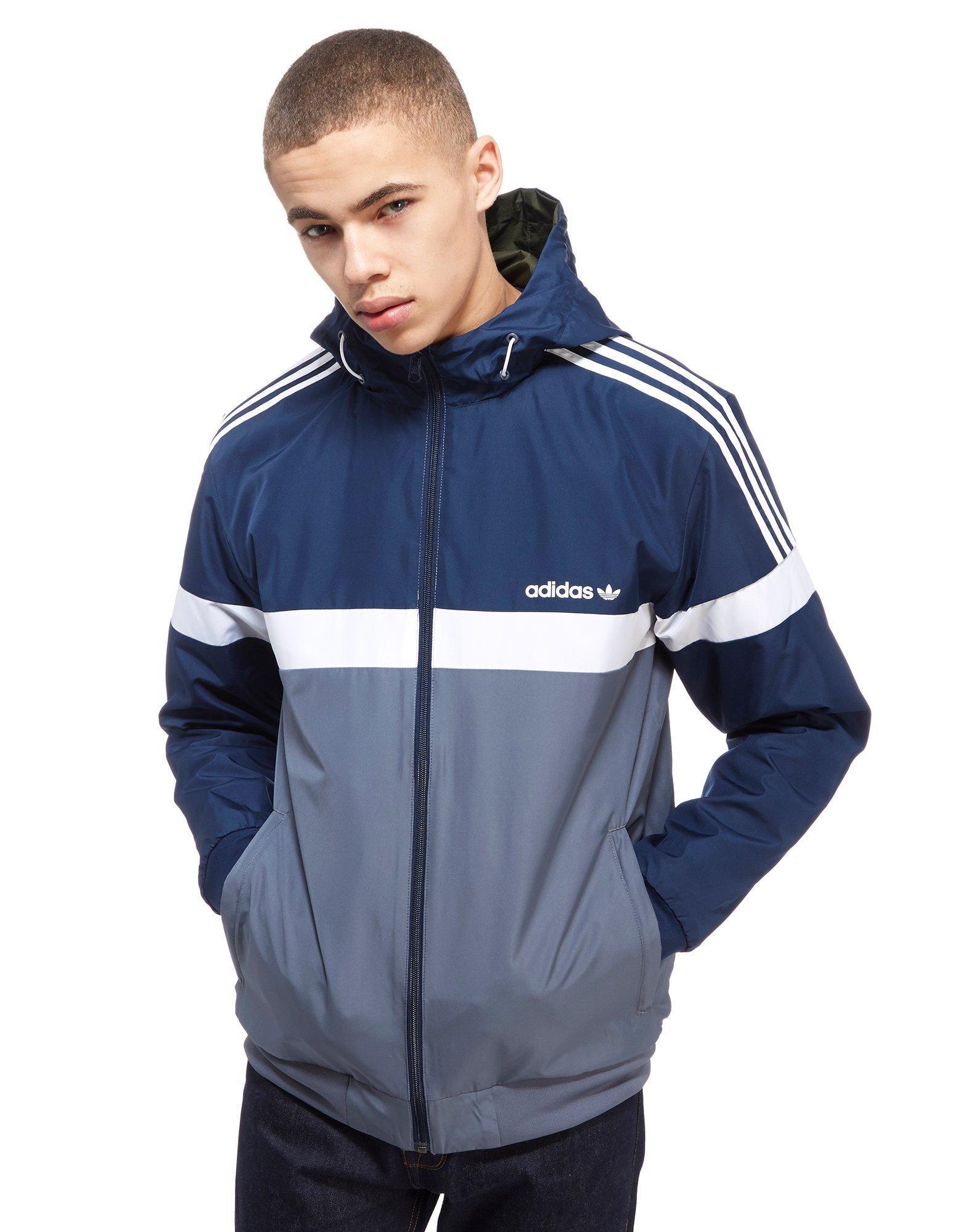 Adidas Originals Itasca Reversible Jacket In Blue For Men