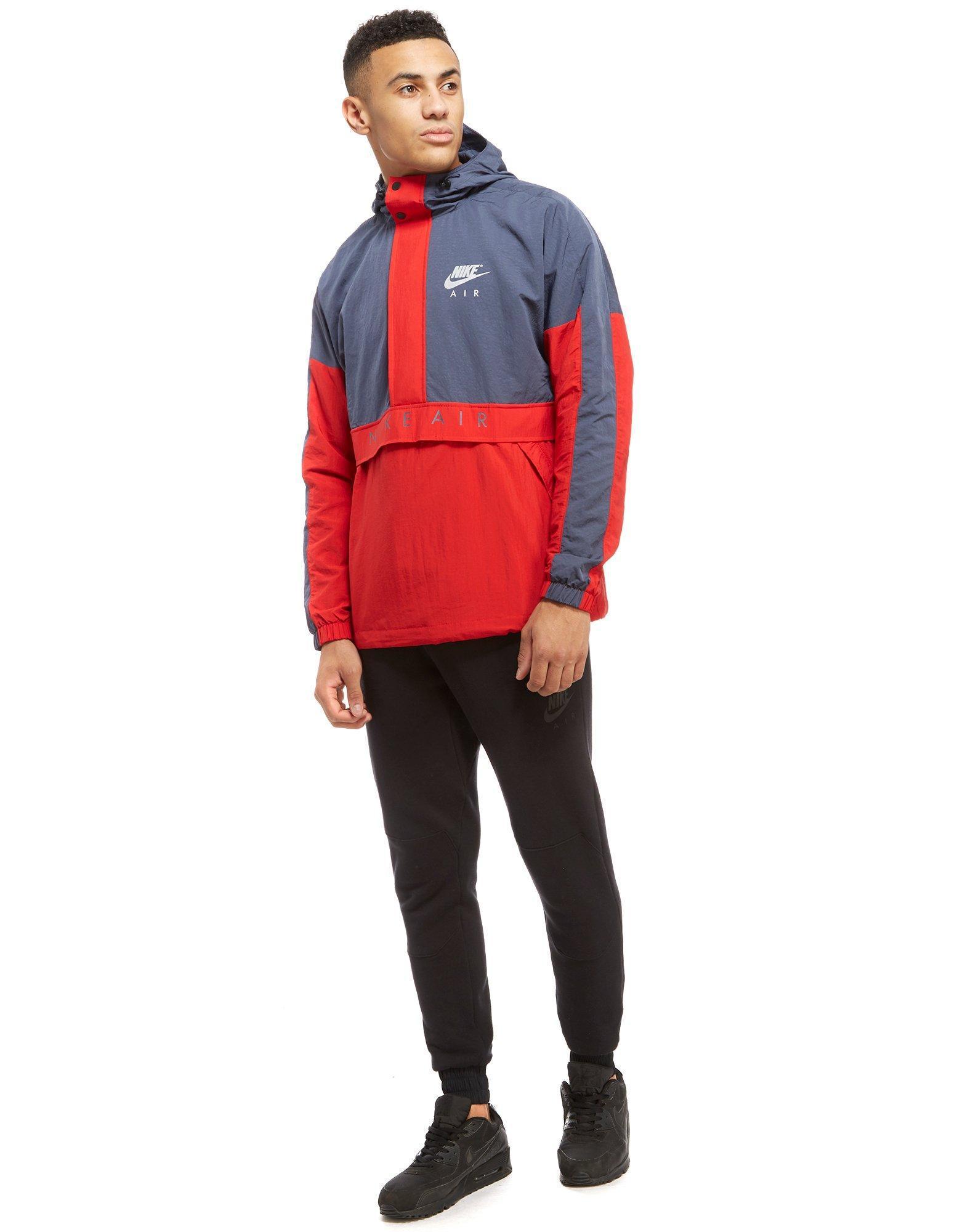 lyst nike air half zip jacket in red for men. Black Bedroom Furniture Sets. Home Design Ideas