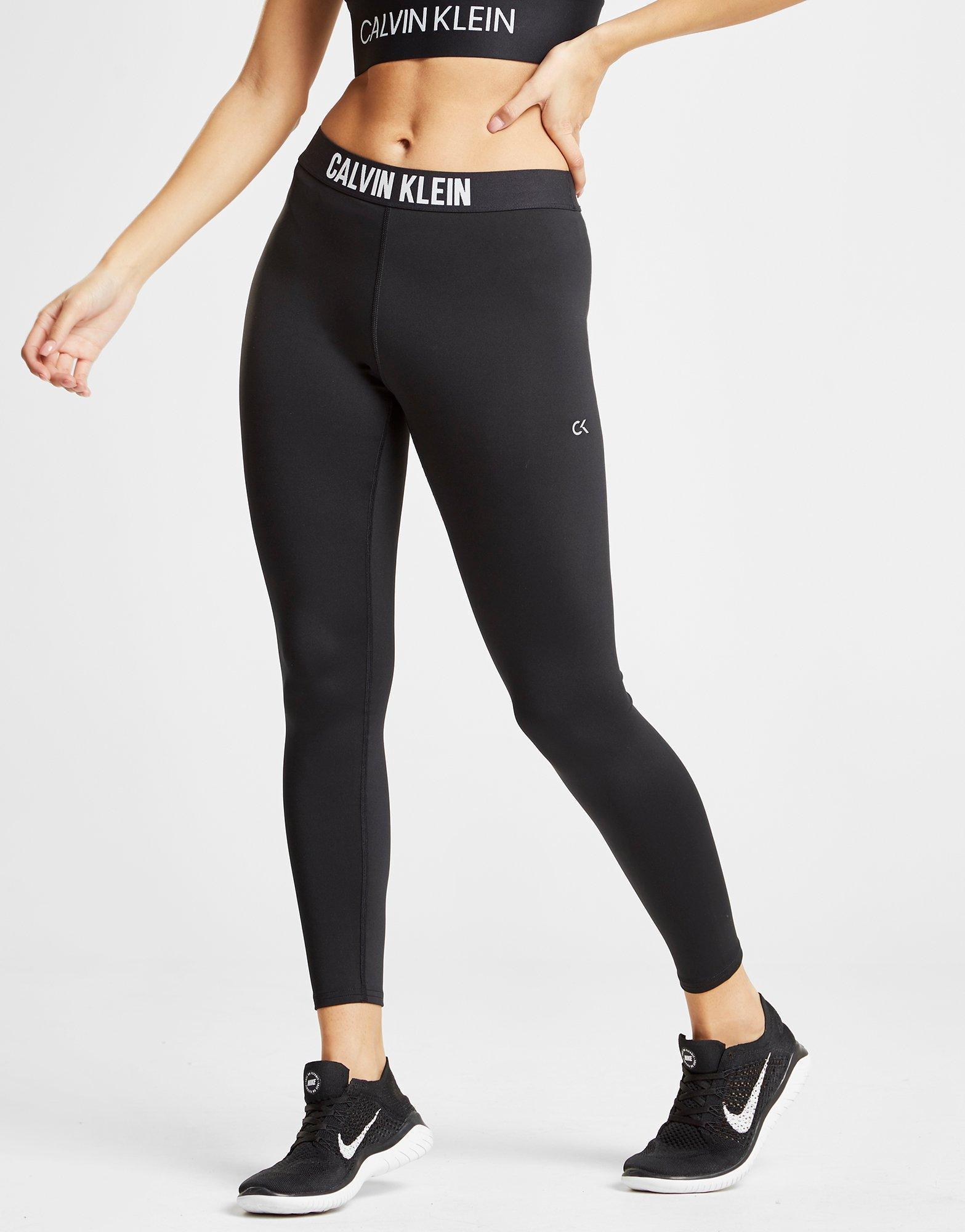 Lyst - Calvin Klein Performance Tape Tights in Black 4098d350afdfa