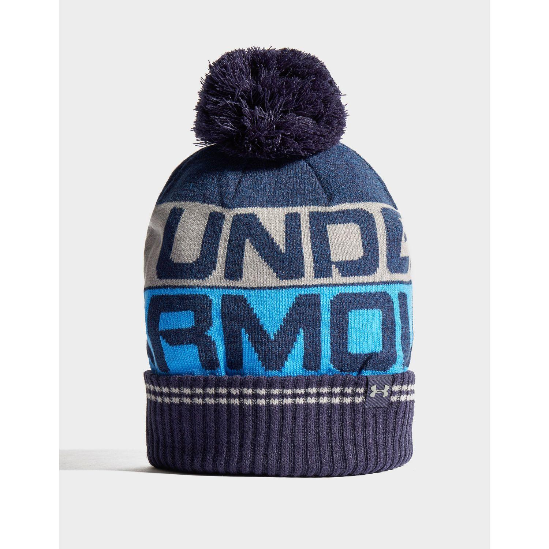 443602e5833 Under Armour - Blue Retro Pom Beanie for Men - Lyst. View fullscreen