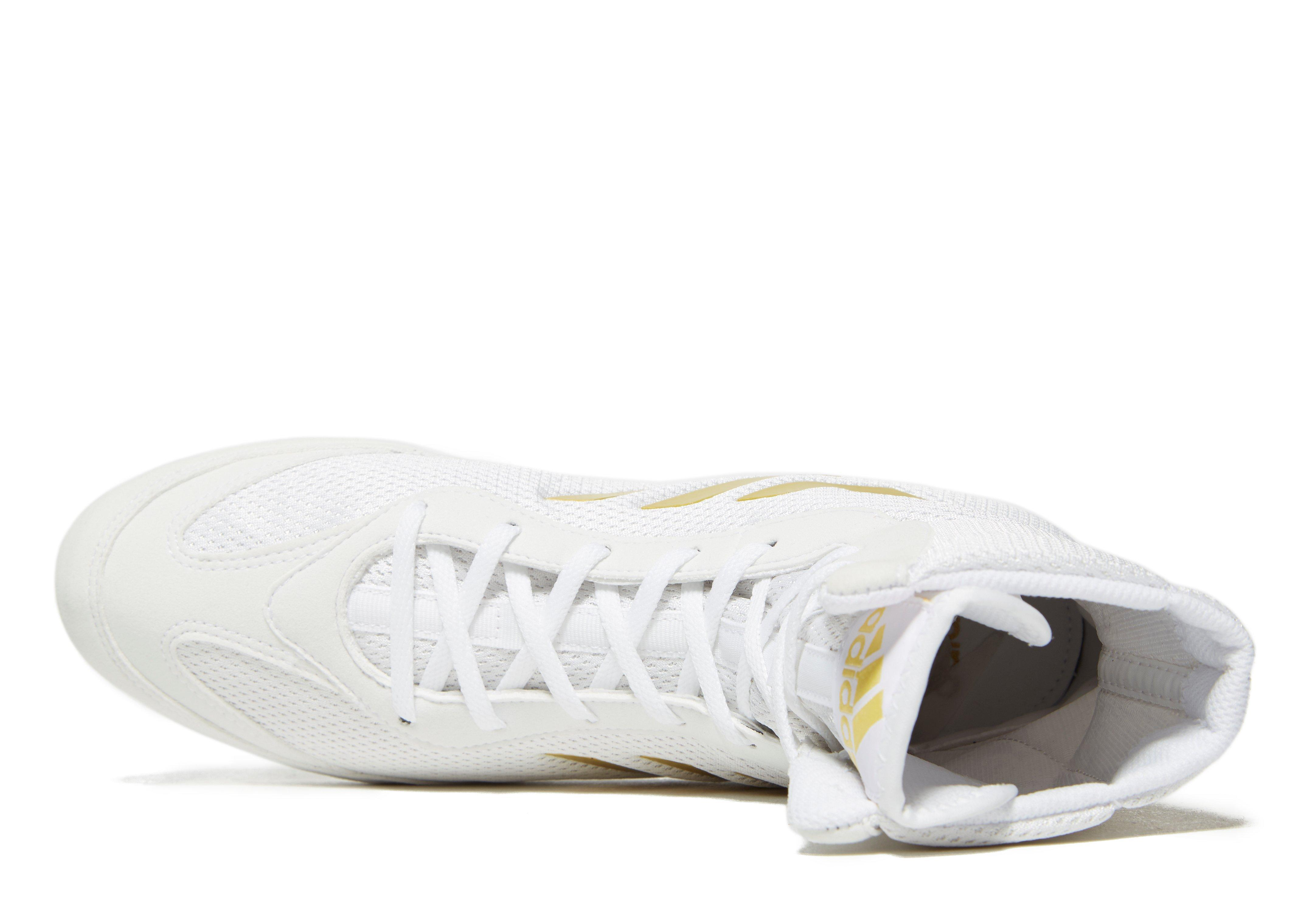 timeless design ef3df 0f45d adidas Box Hog Plus Boxing Shoes in White for Men - Lyst