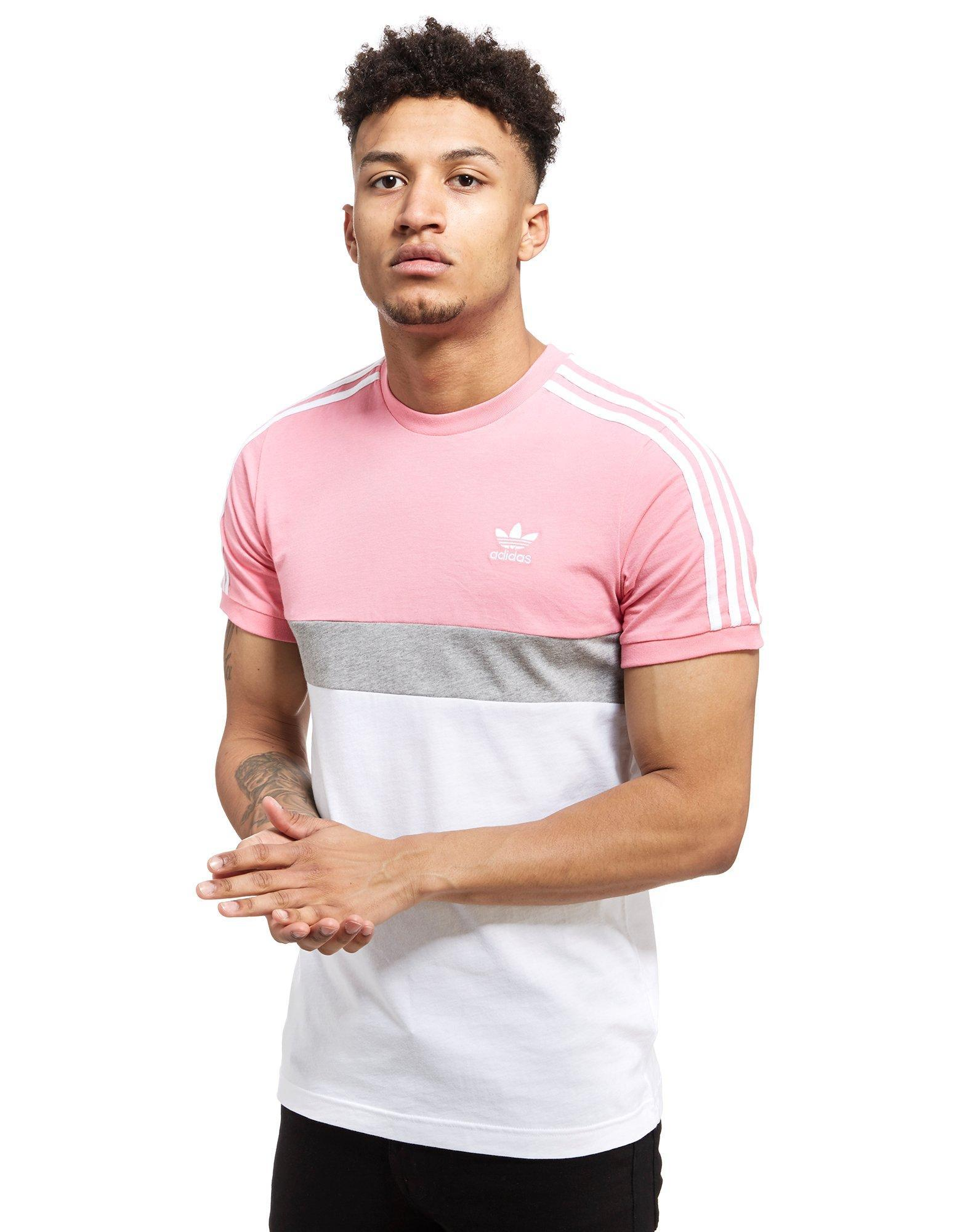 Lyst adidas originals california 2 t shirt in pink for men for Dress shirts for athletic guys