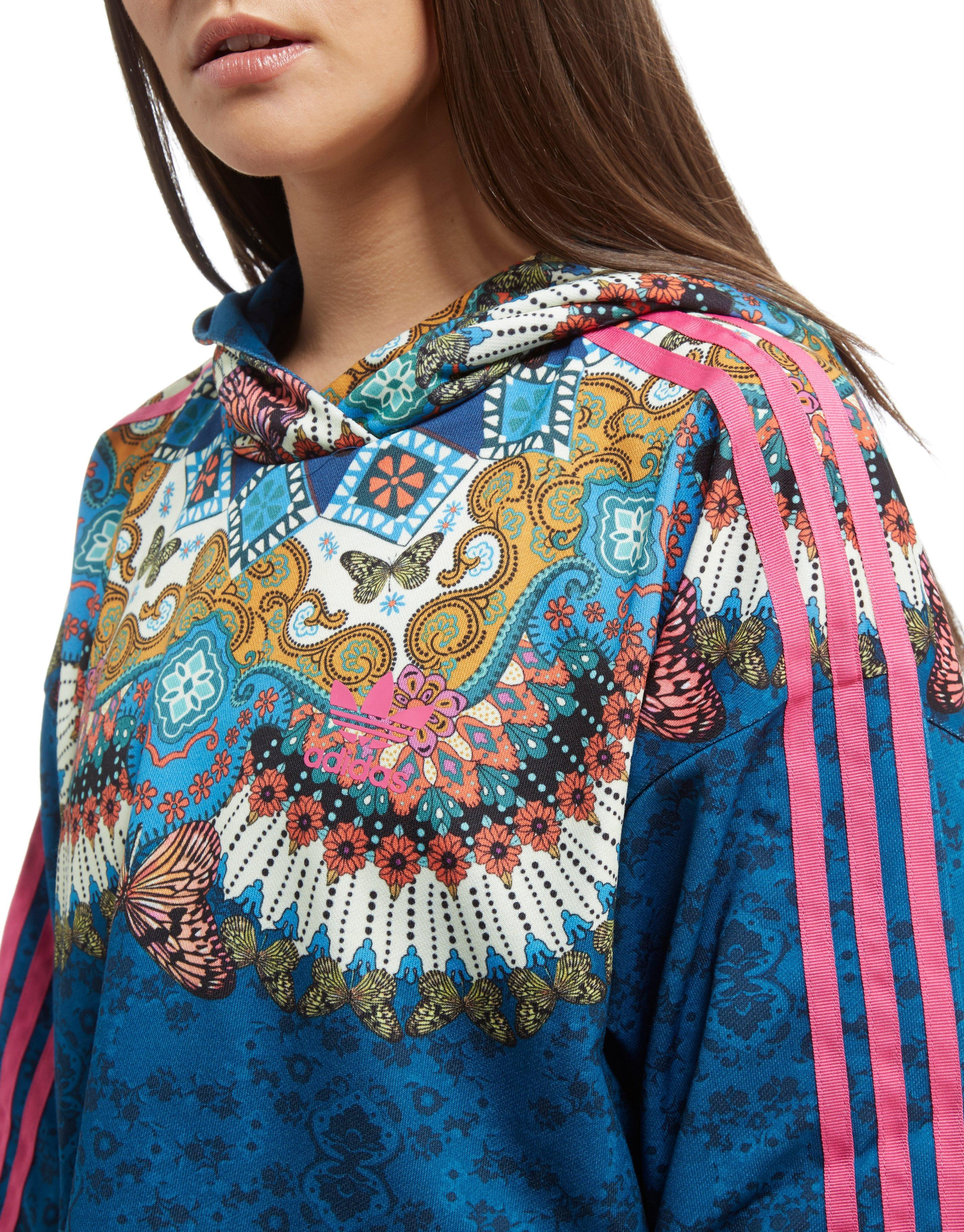53e9bfb2b44 adidas Originals Borbomix Cropped Hoodie in Blue - Lyst