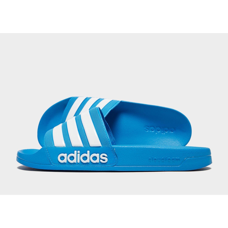 164672c38 adidas Originals Adilette Cloudfoam Slides in Blue for Men - Lyst