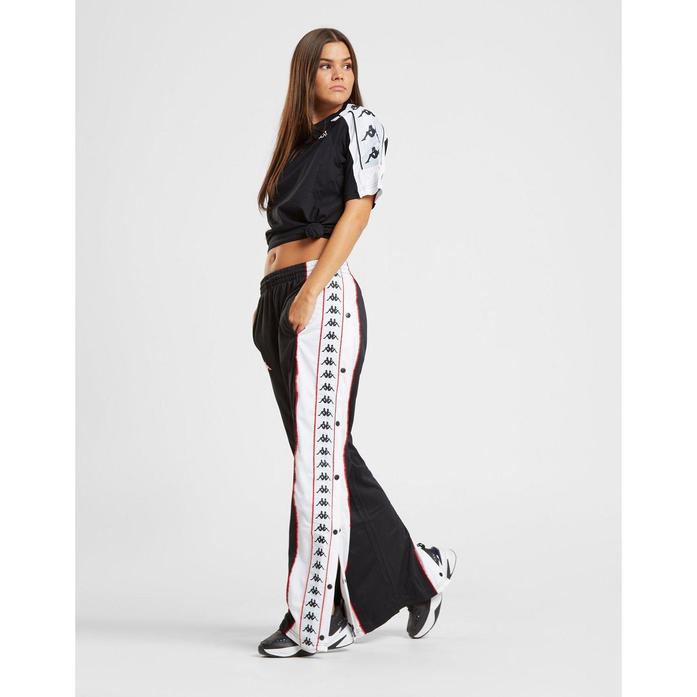 88b93e05bf8f Kappa Panel Popper Pants in Black - Lyst
