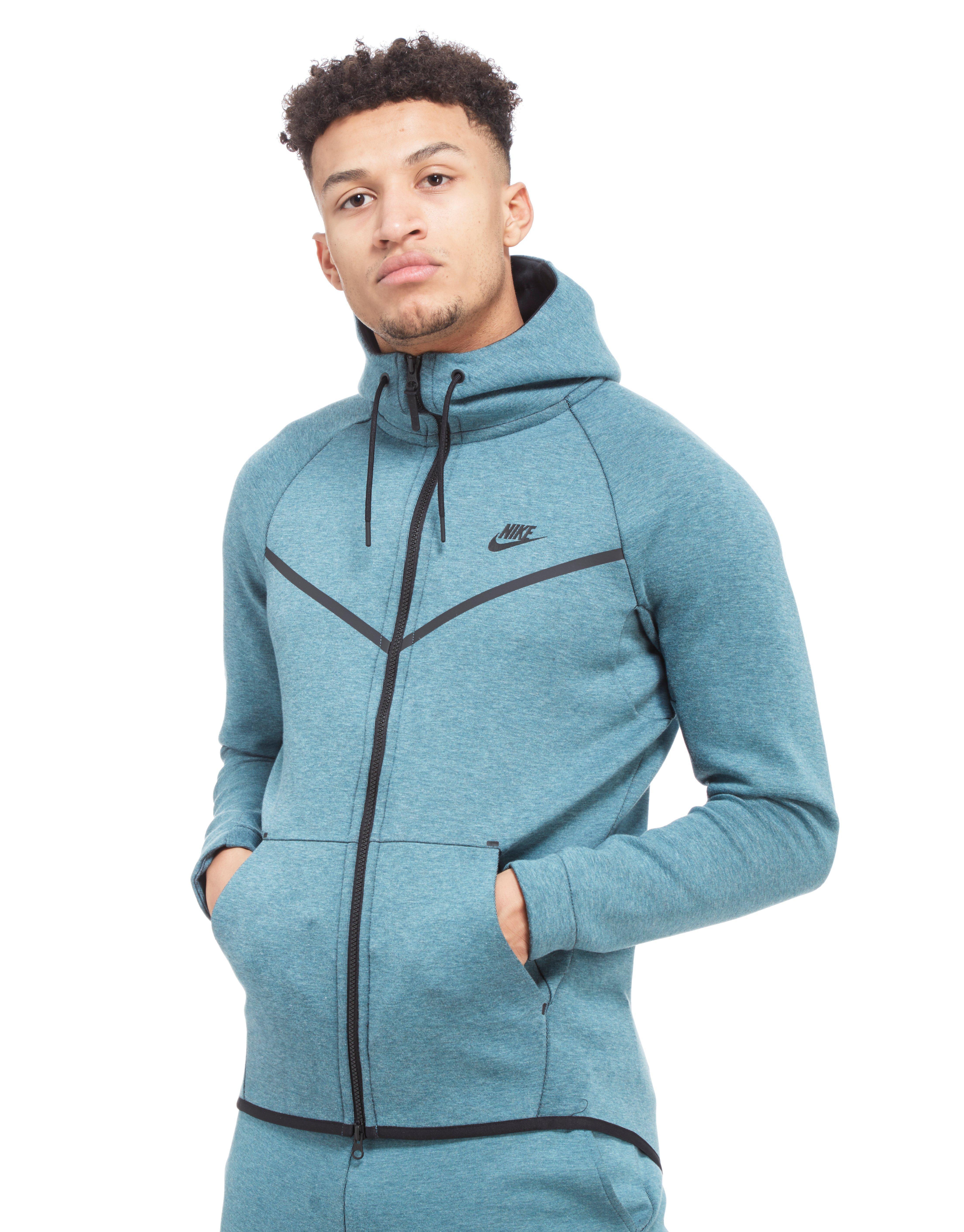 e124bd25cf Lyst - Nike Tech Fleece Windrunner Hoody in Blue for Men