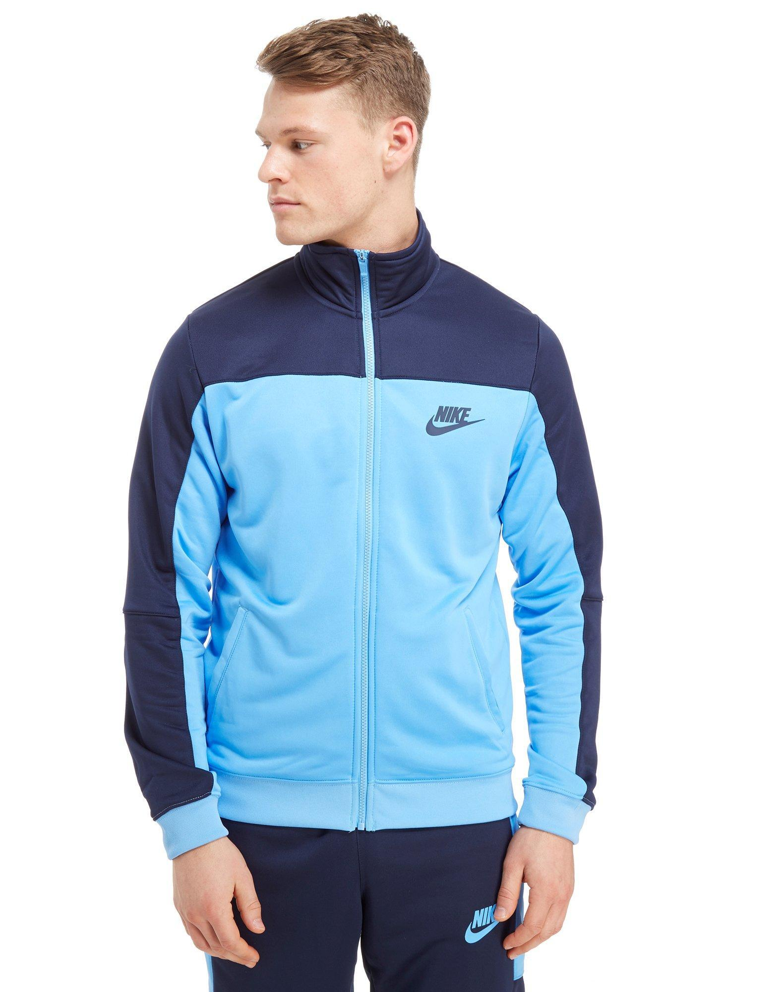 86f377a3f65d Nike Season Colourblock Poly Track Top in Blue for Men - Lyst
