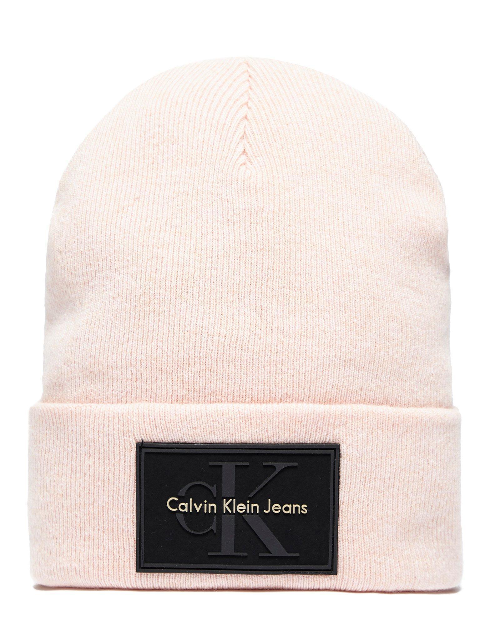 32560ebbe06 Calvin Klein Re-issue Beanie in Pink for Men - Lyst