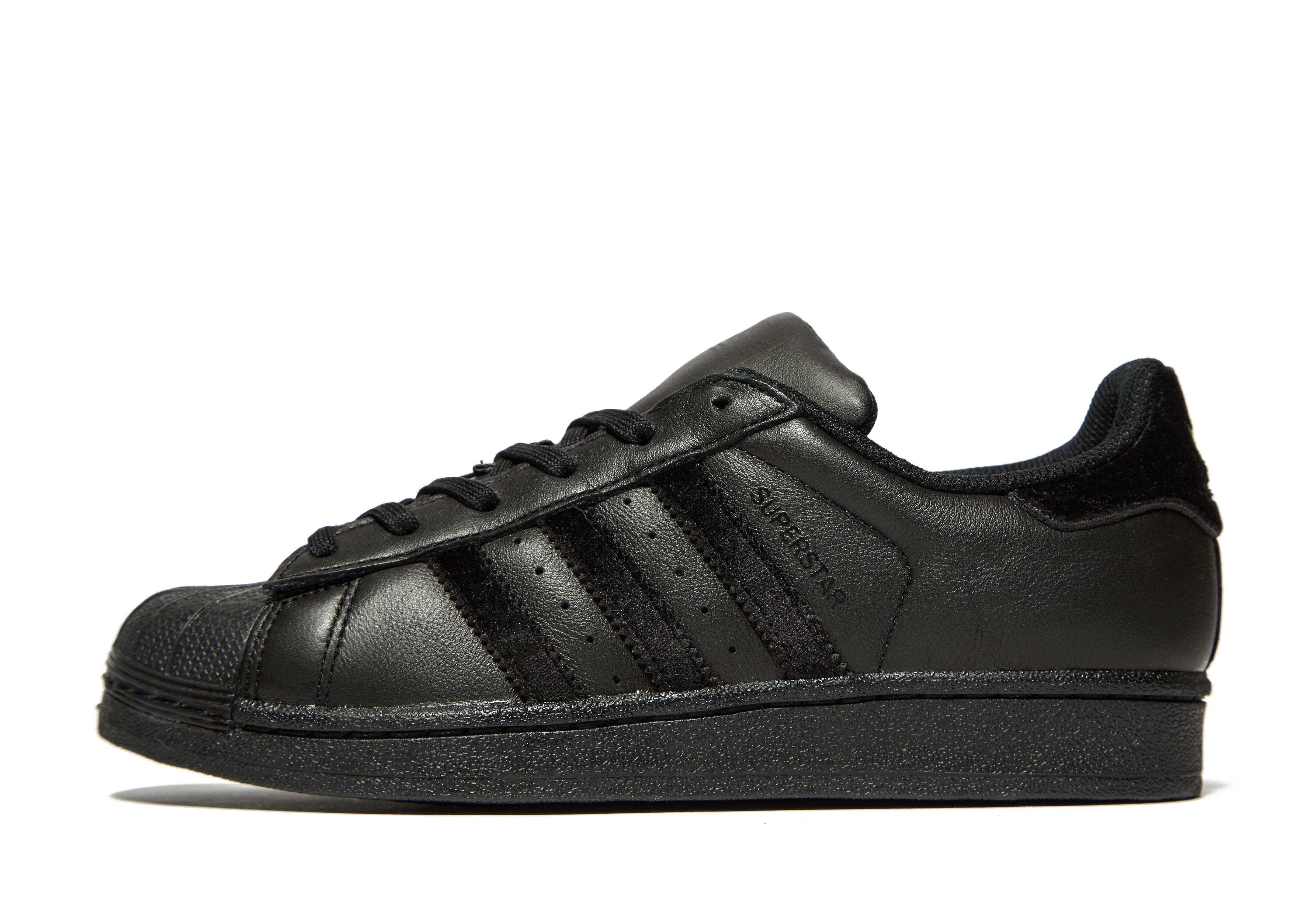 adidas superstar black velvet