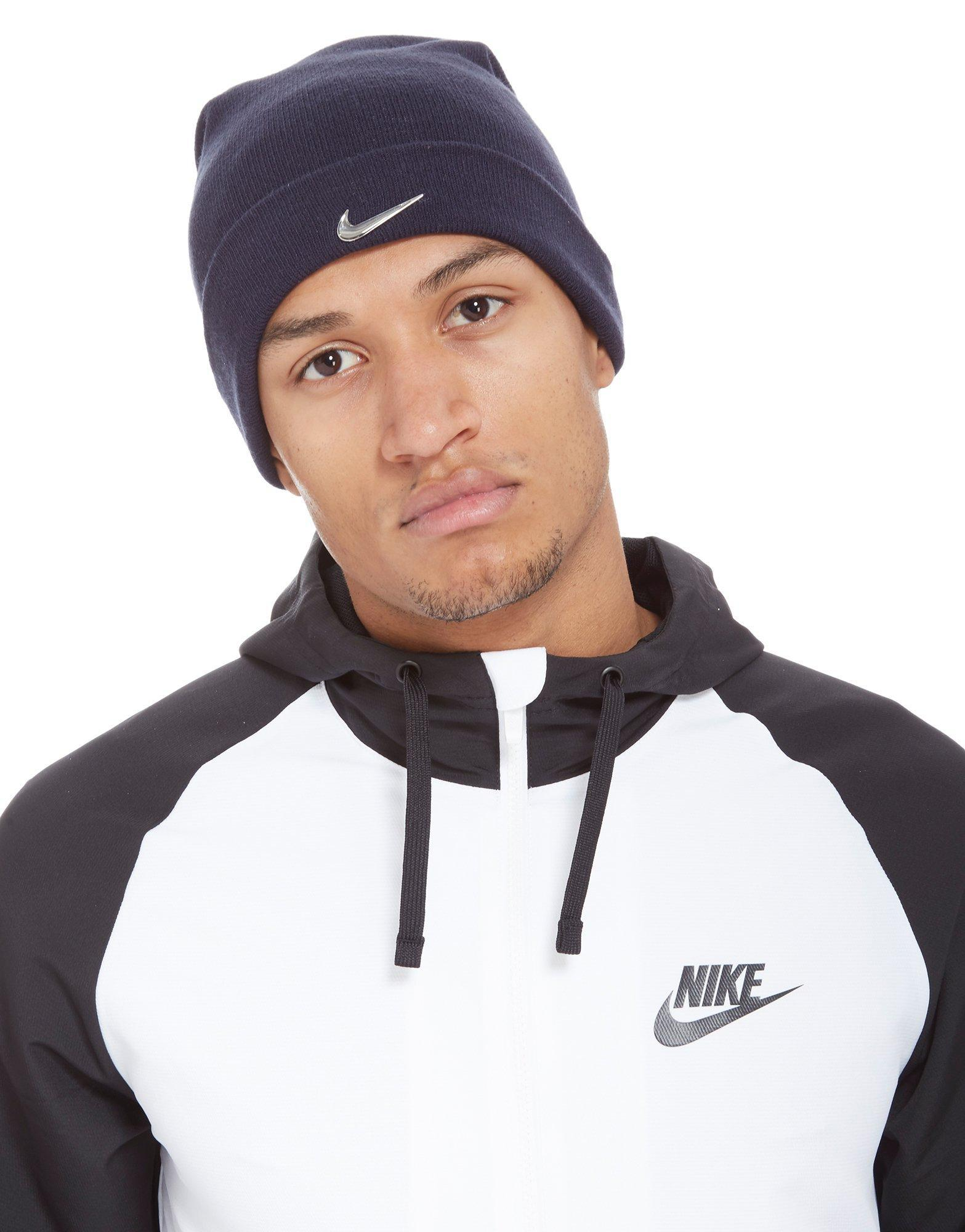 60d9a198bc Lyst - Nike Swoosh Beanie Hat in Blue for Men