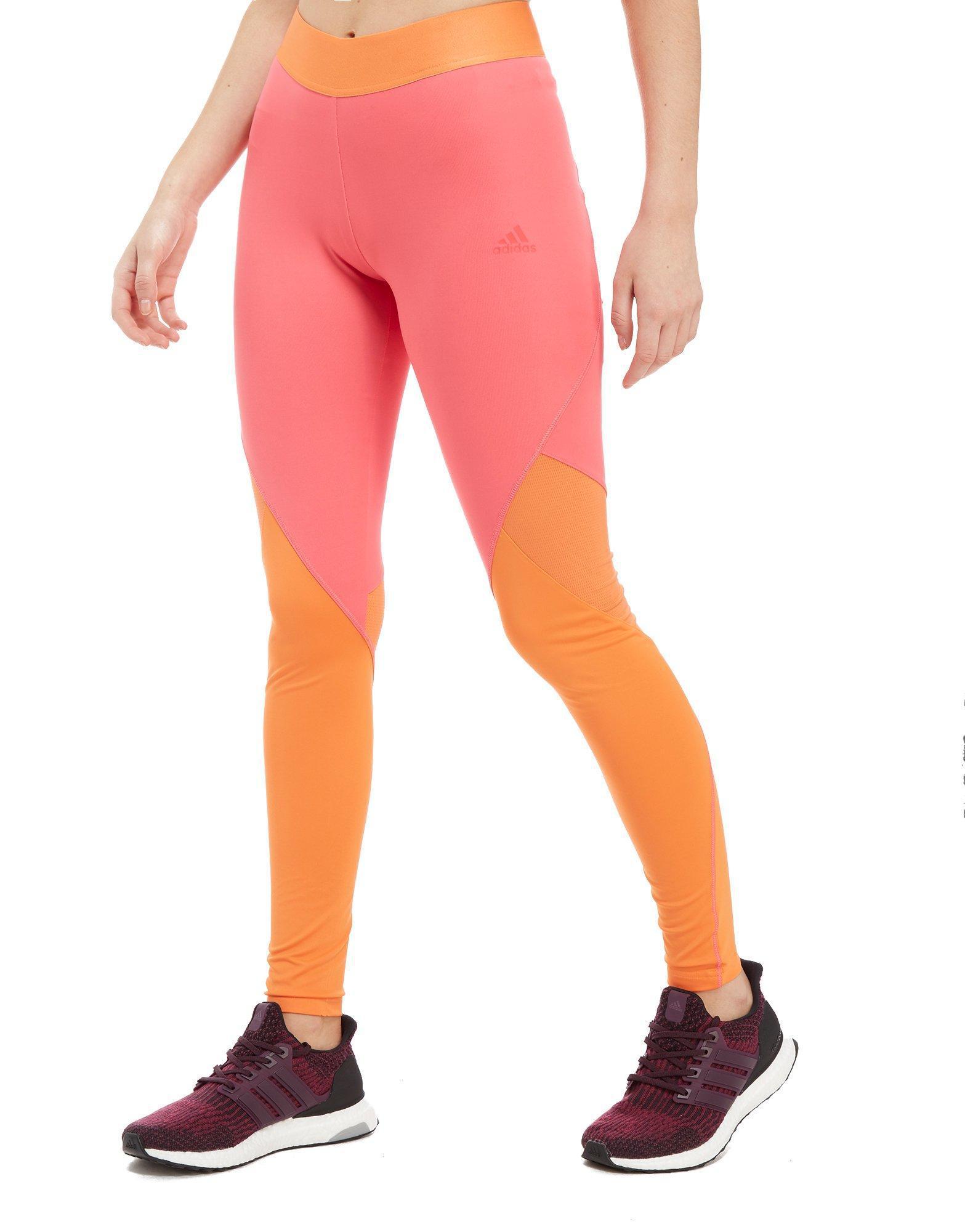 874daad29af79 adidas Climacool Logo Long Tights in Pink - Lyst