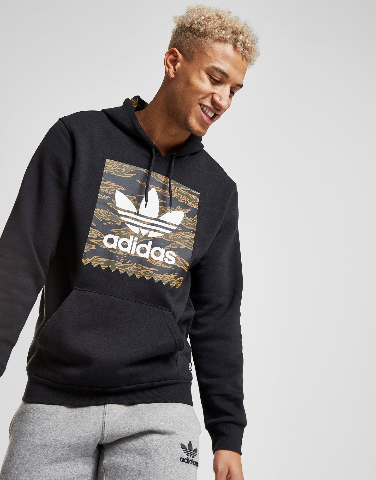 Lyst - Adidas Originals Tiger Camo Overhead Hoodie in Black for Men 835dbd801