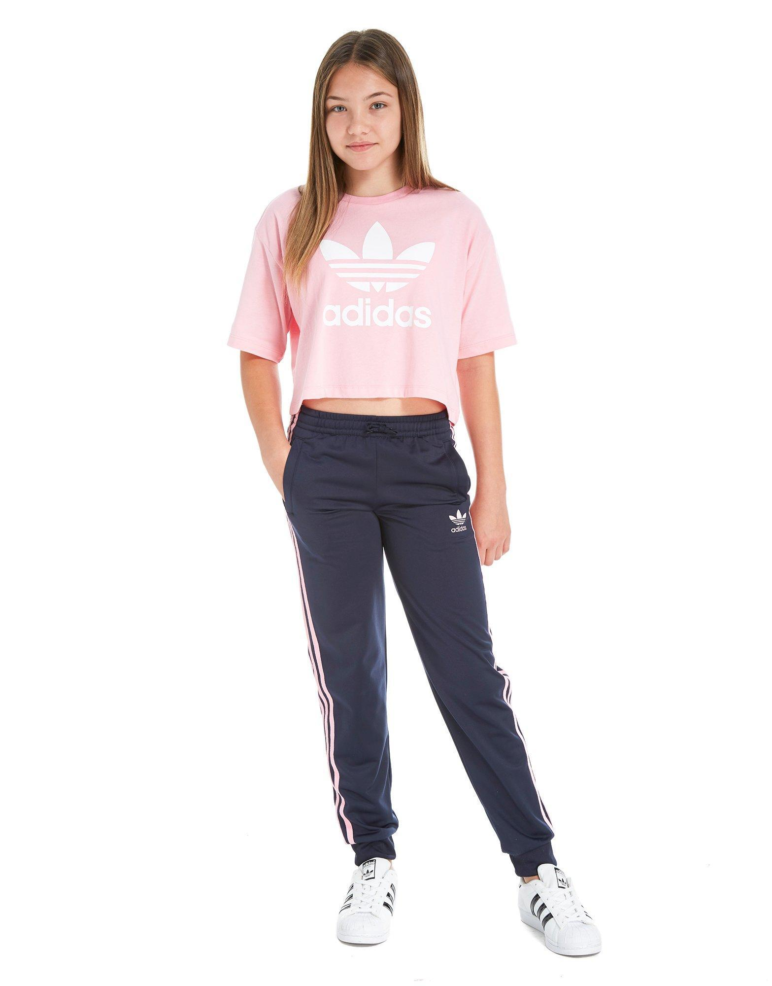 pretty nice a8992 29340 Lyst - adidas Originals Girls Poly Pants Junior in Blue