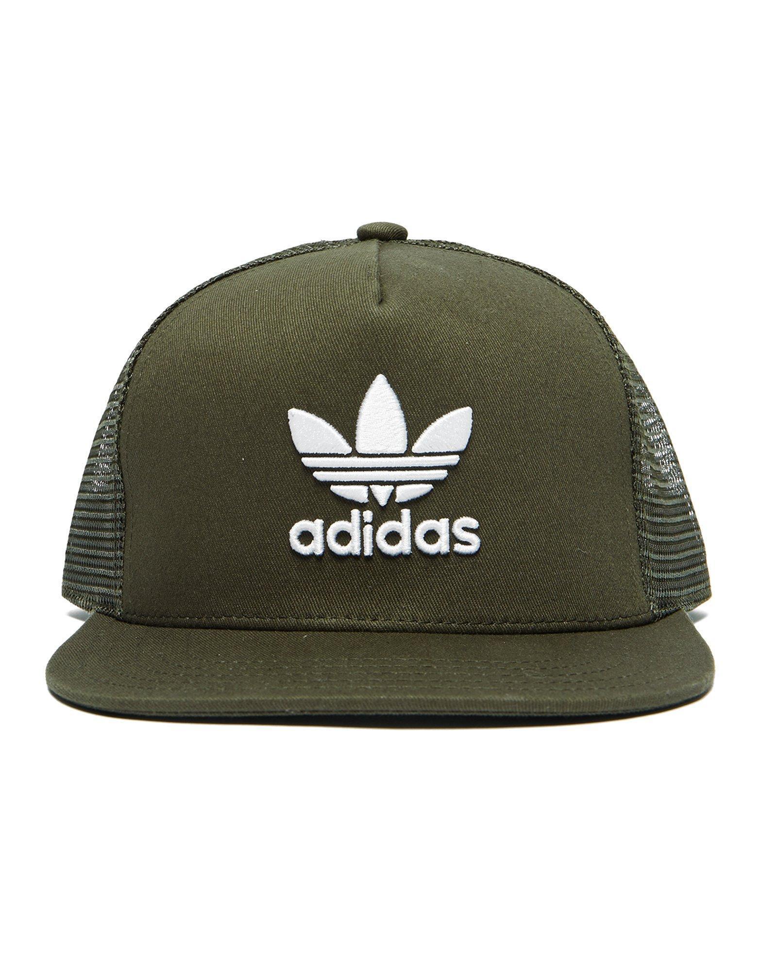 Adidas Originals Trefoil trucker cap - Green adidas A8mQqwkSg