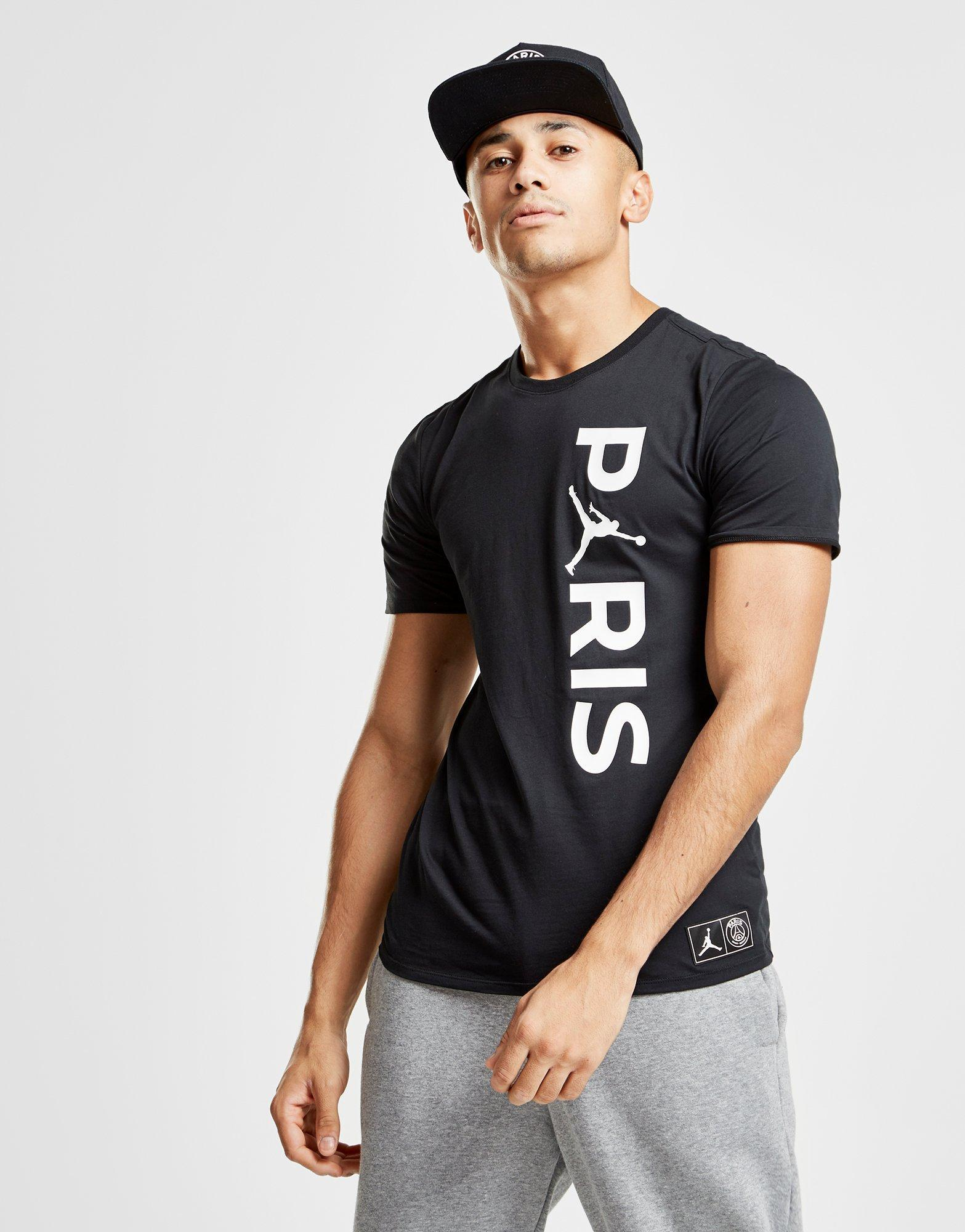 f6c10286877 Nike X Paris Saint Germain Wordmark T-shirt in Black for Men - Lyst