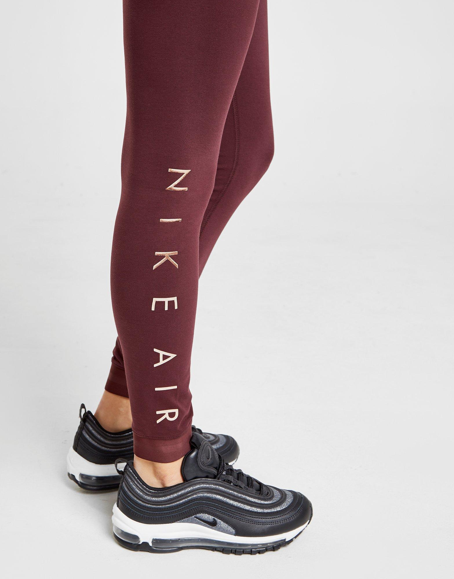 f78a009bb5fd4 Nike Air Leggings in Red - Lyst