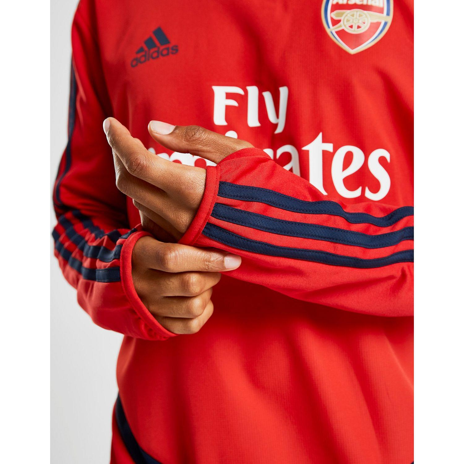 97a9f53f Adidas - Red Arsenal Fc Warm Top for Men - Lyst. View fullscreen