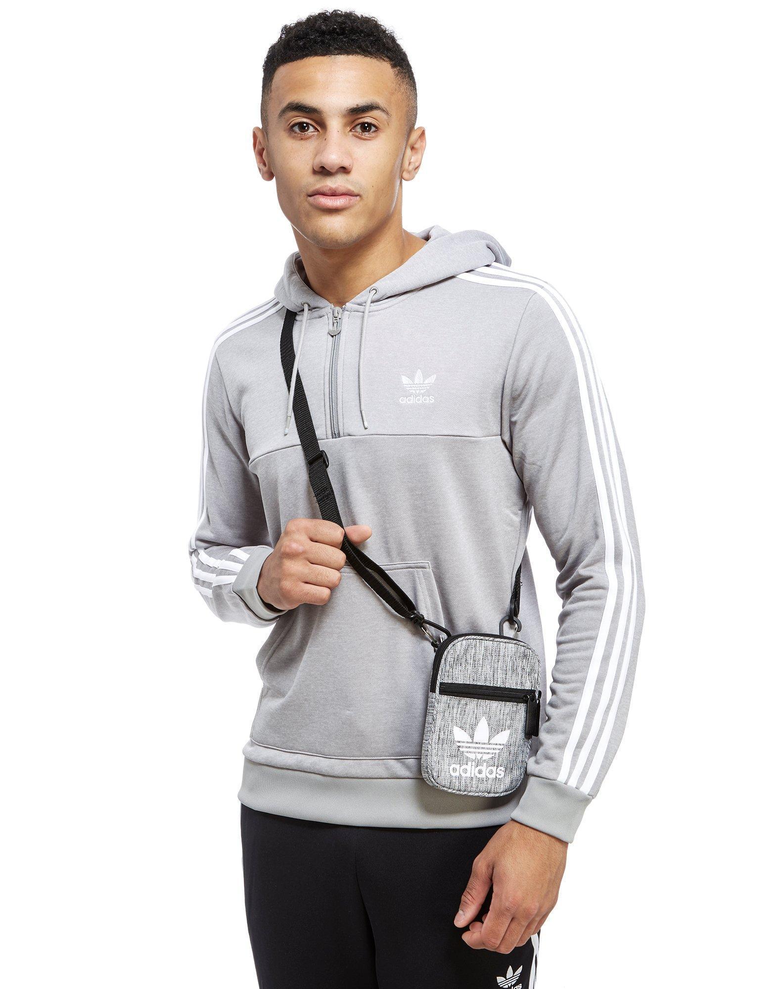 Lyst - adidas Originals Trefoil Festival Bag in Gray for Men 9357e25a5ae64