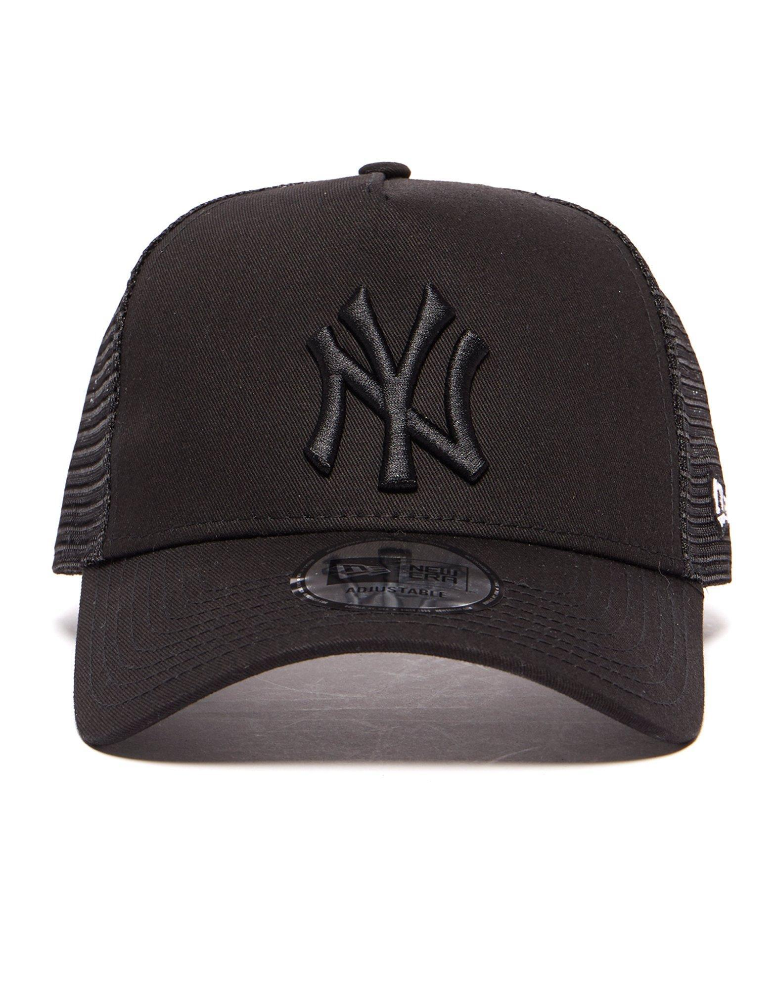 40c27b80cd8 ... buy ktz black mlb new york yankees snapback trucker cap lyst. view  fullscreen ccd4c 498b9