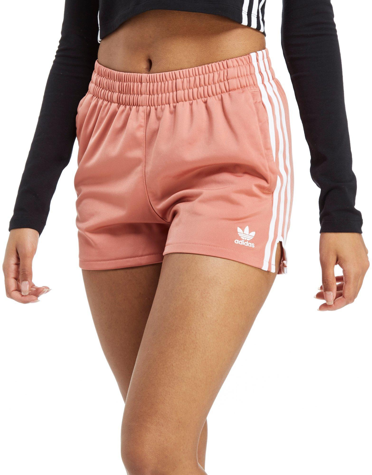d4224d54 adidas Originals 3-stripes Poly Shorts in Pink - Lyst
