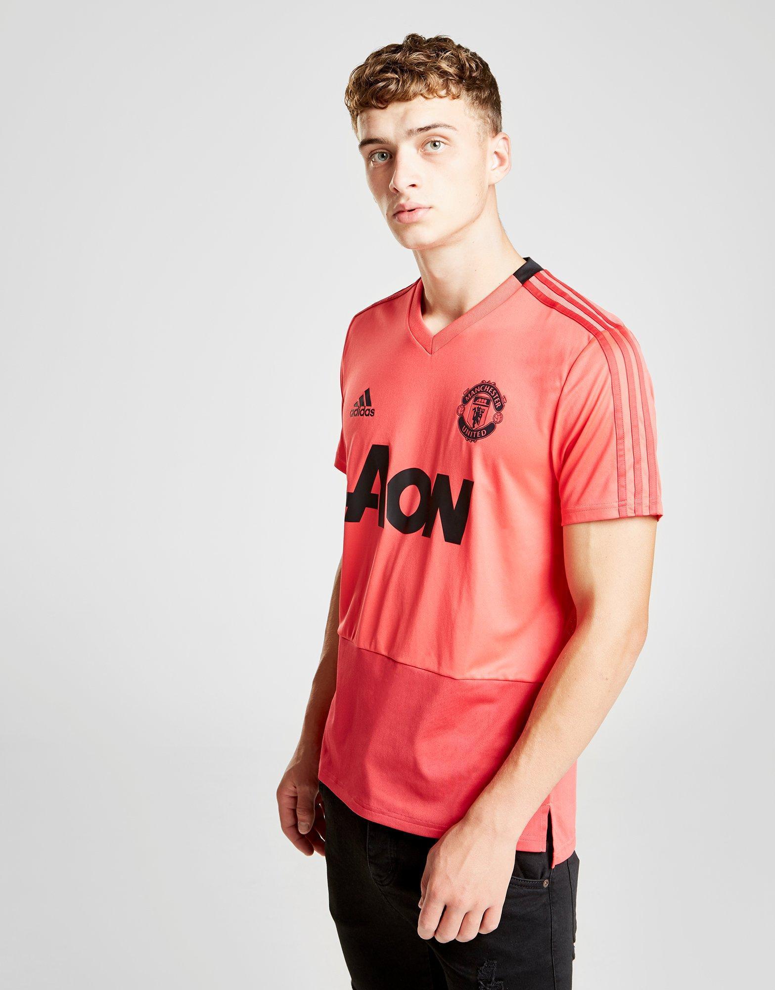 13718922cf7 Adidas - Red Manchester United Fc Training Shirt for Men - Lyst. View  fullscreen