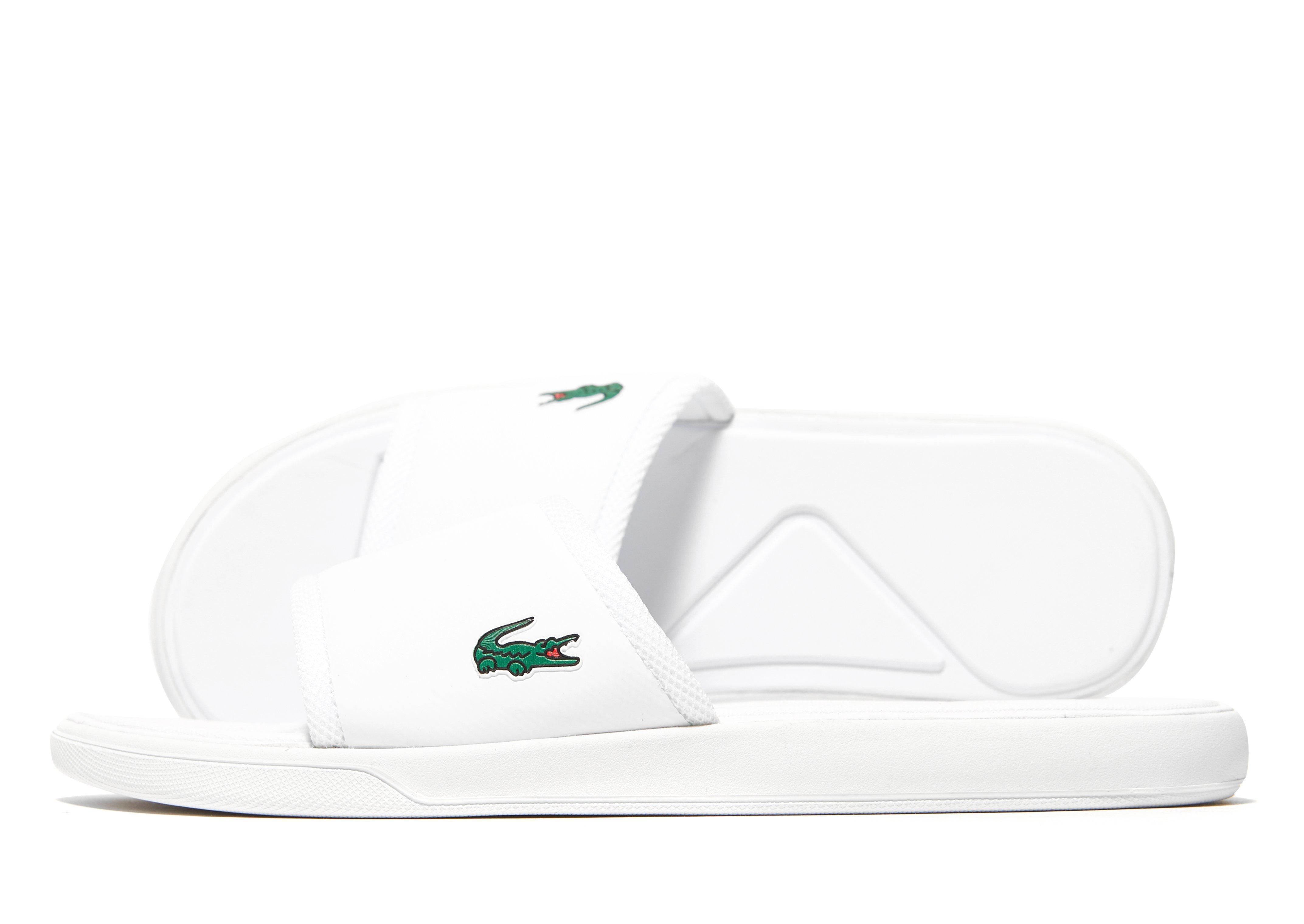 e326e1a62e3a Lacoste L30 Slide in White for Men - Lyst