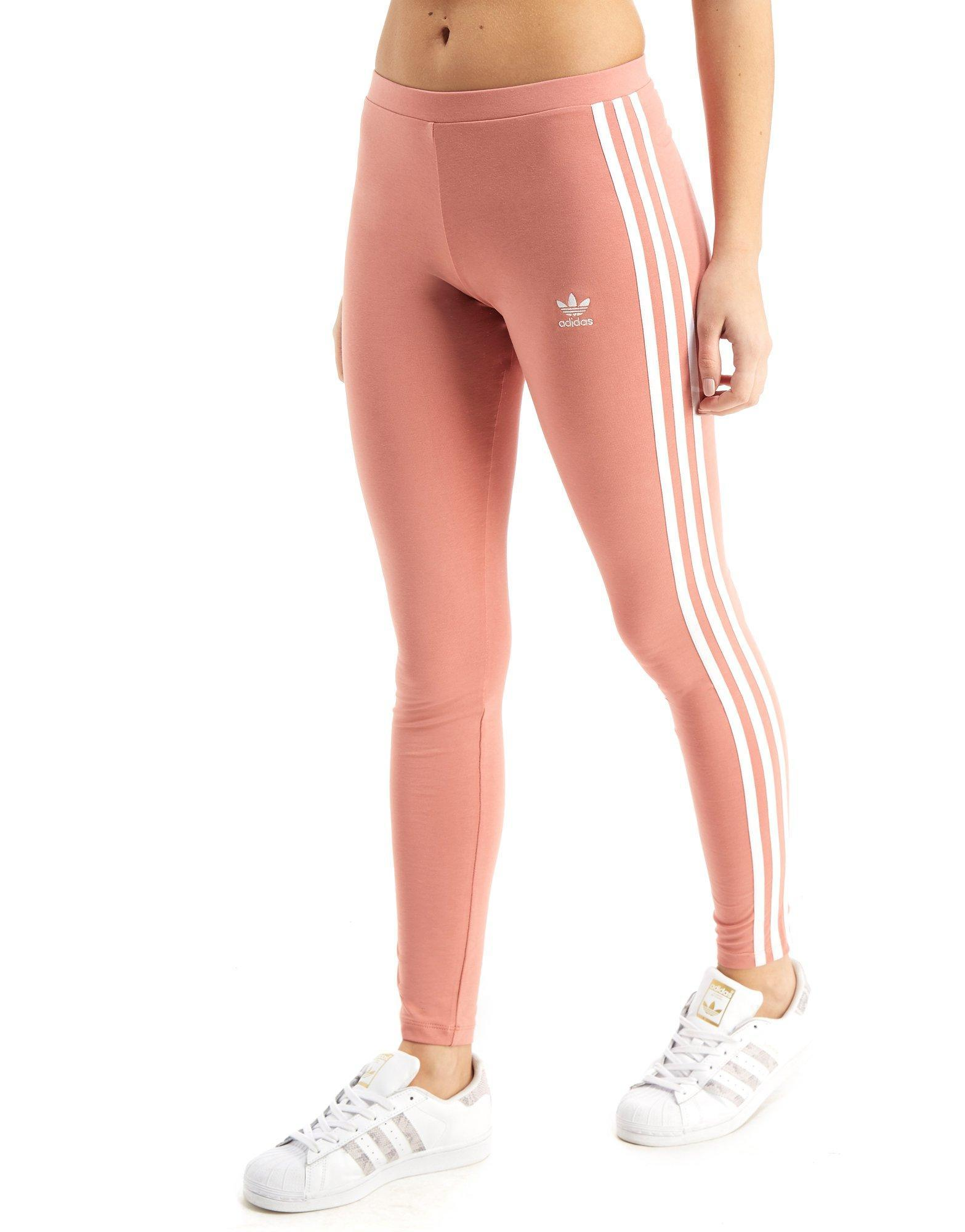 58152d8ec3371 adidas Originals 3-stripes Leggings in Pink - Lyst
