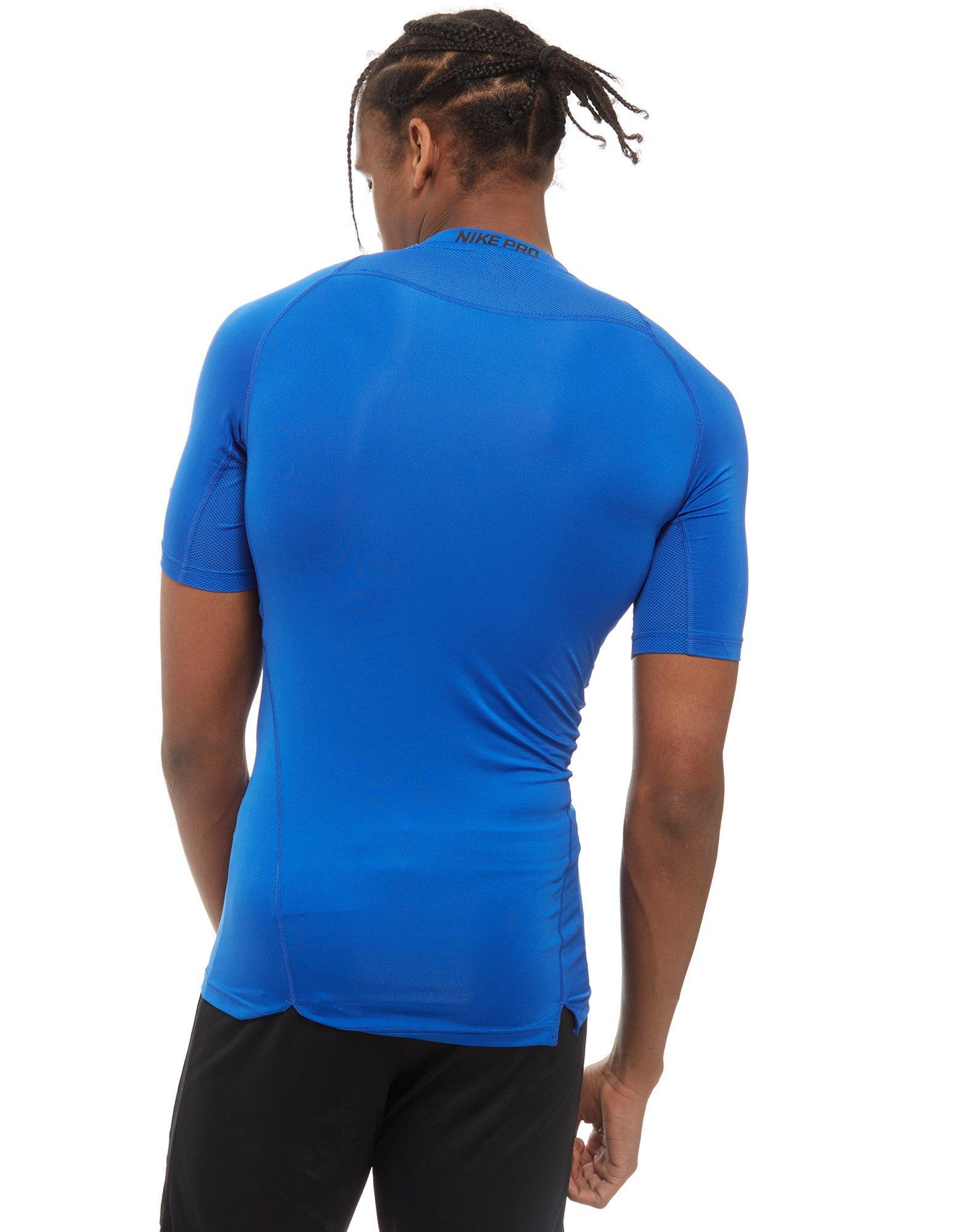 60017ba6e6 Lyst - Nike Pro Compression Short Sleeve Top in Blue for Men