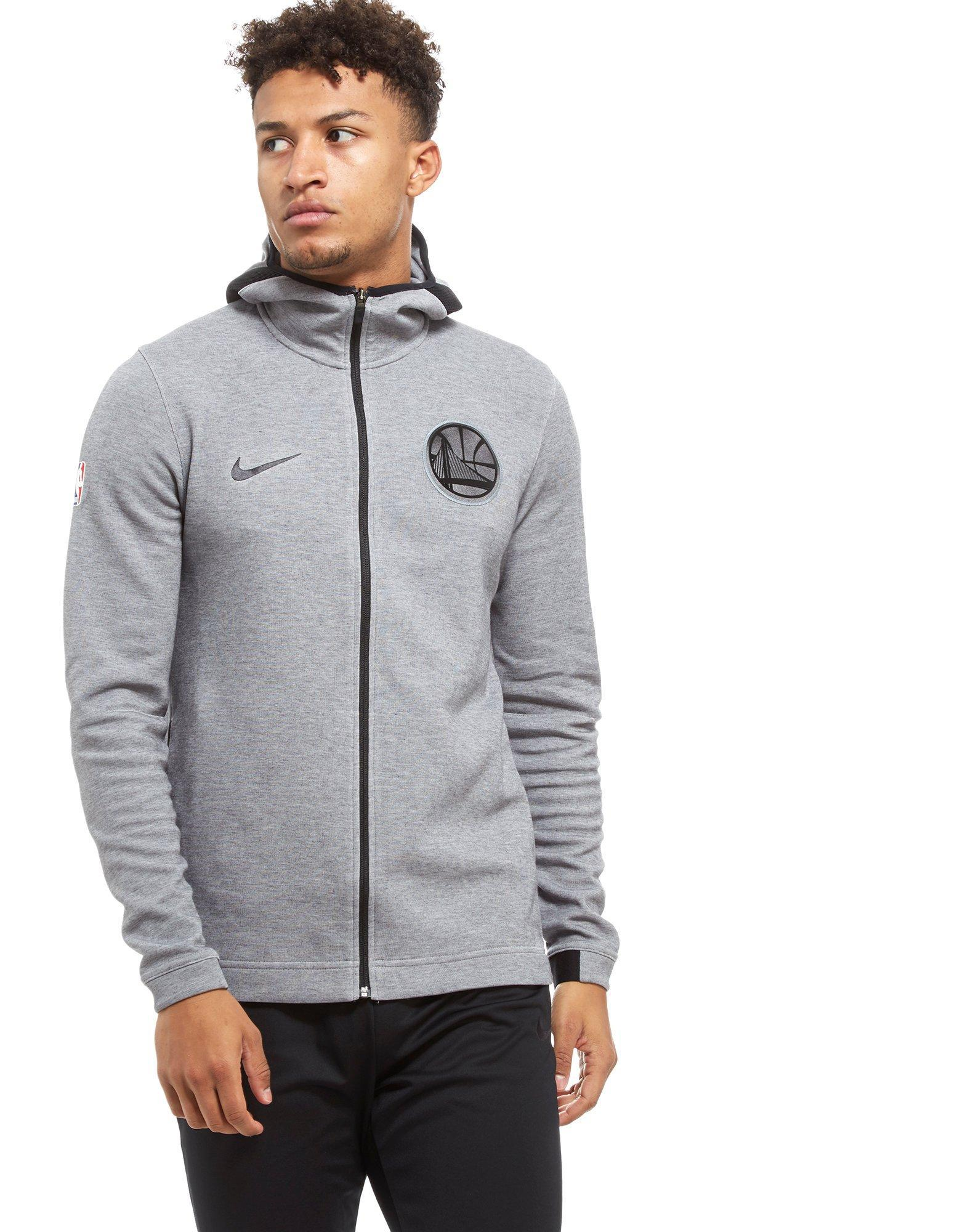 d7f7f21942fb82 Nike Nba Golden State Warriors Therma Flex Hoodie in Gray for Men - Lyst