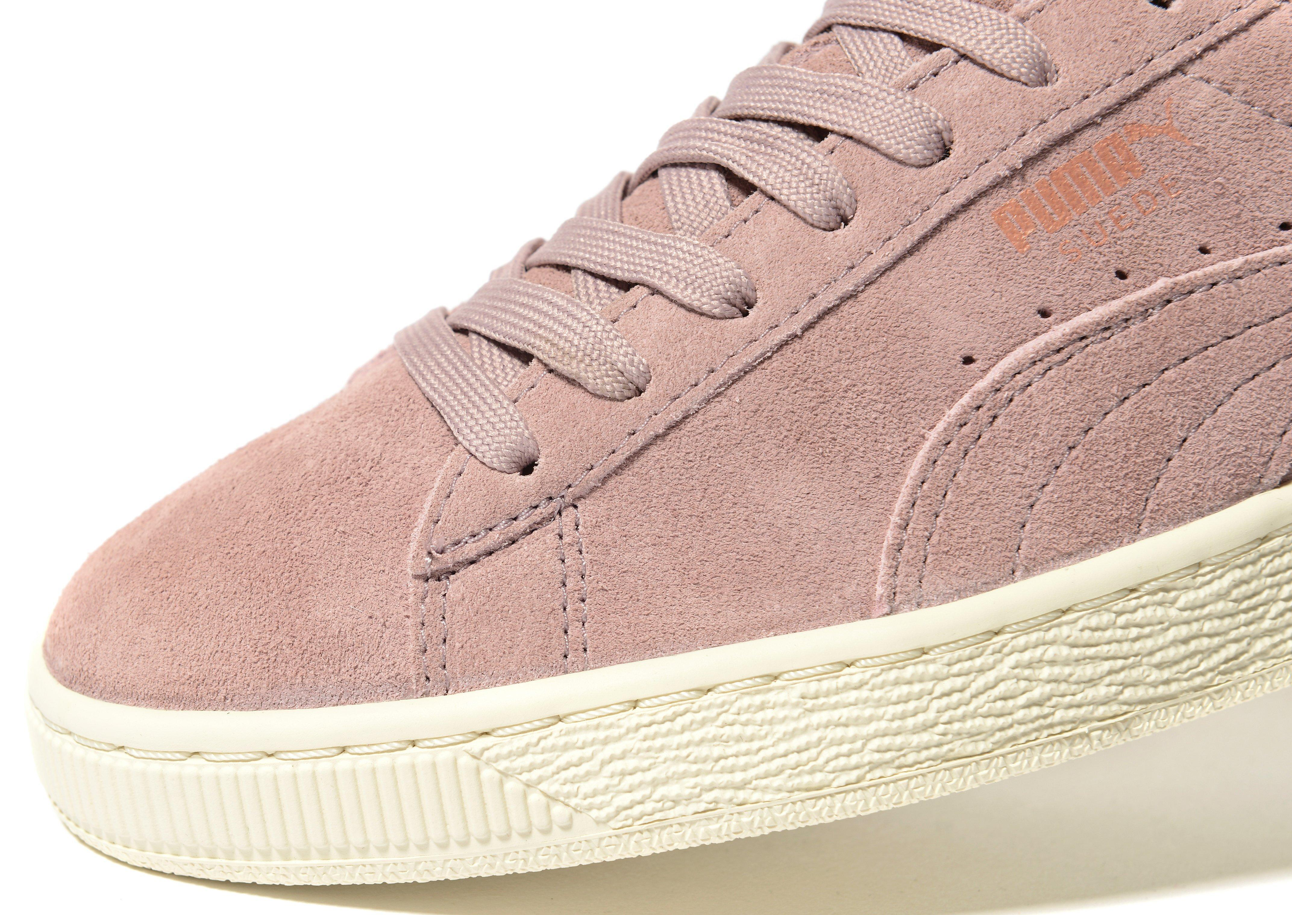 5366409f3b6424 Lyst - Puma Basket Platform Core Trainers in Pink