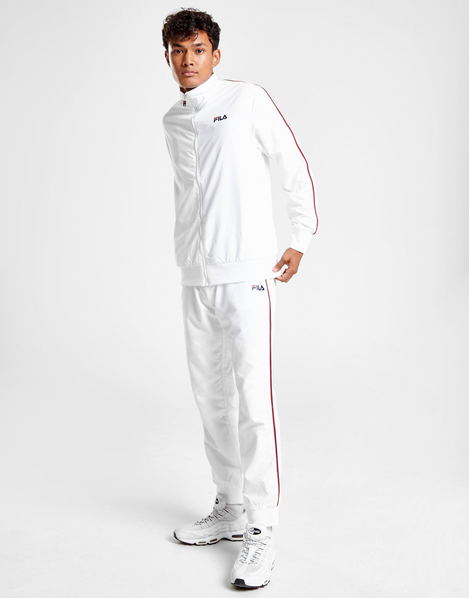 c88b024c3f18e Fila Duane Woven Tracksuit in White for Men - Lyst