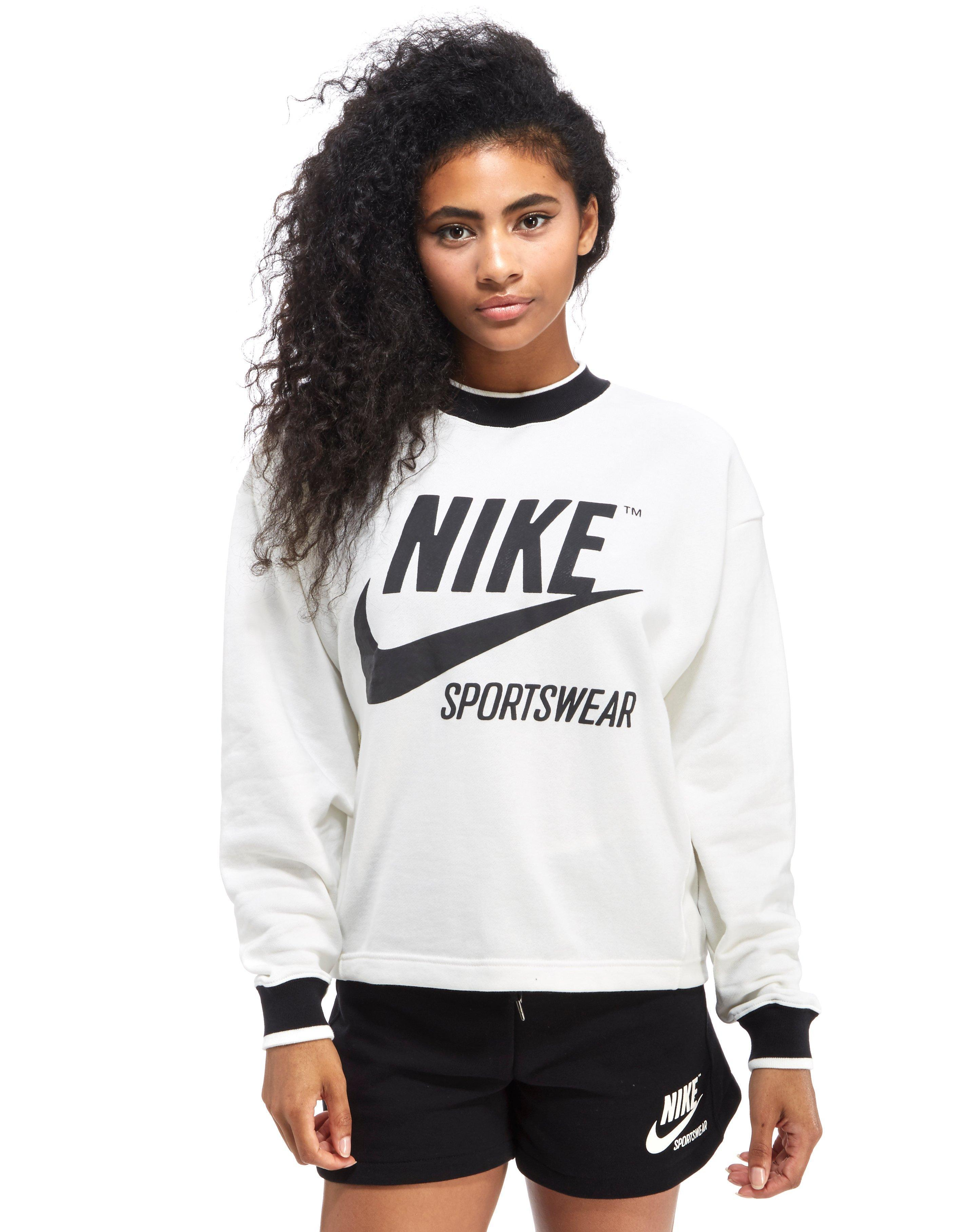 6c1055c71 Nike Archive Crew Sweater in White - Lyst