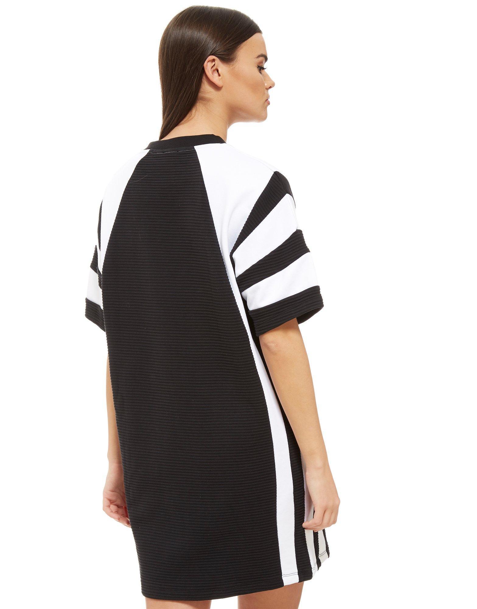 9fb3548e7fc adidas Originals Eqt Colourblock T-shirt Dress in Black - Lyst